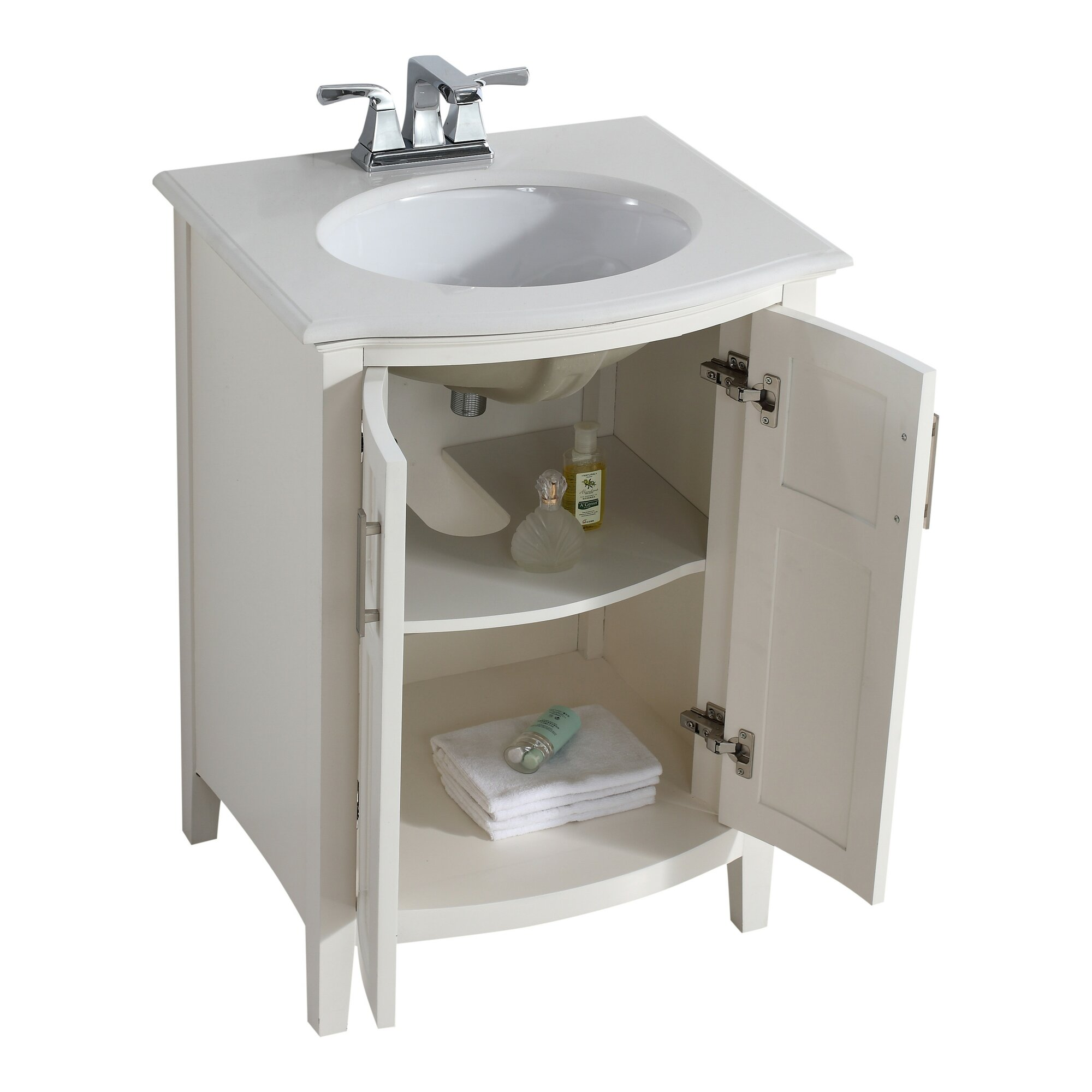 simpli home winston 25 single rounded front bathroom
