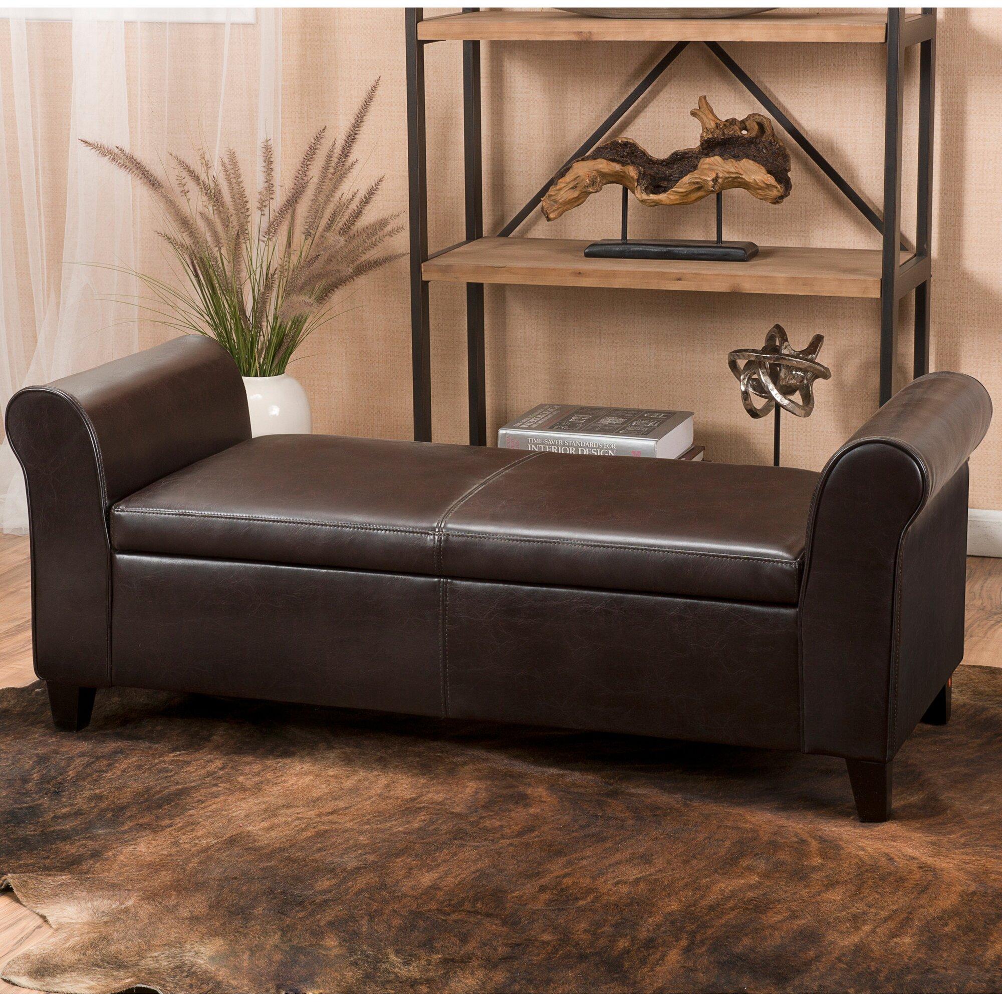 Varian Upholstered Storage Bedroom Bench & Reviews