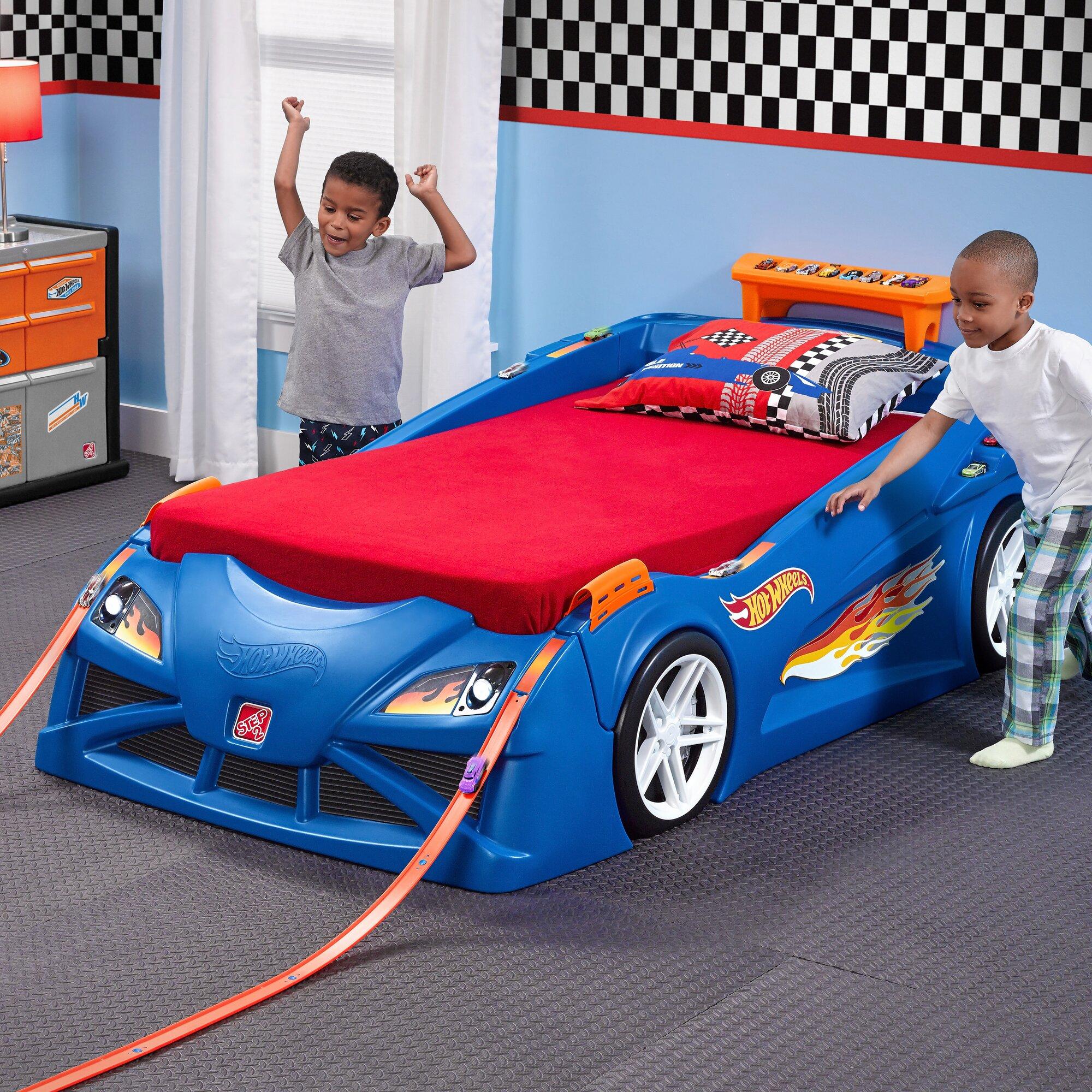 Thomas The Train Bedroom Decor Step2 Hot Wheels Race Twin Car Bed Amp Reviews Wayfair