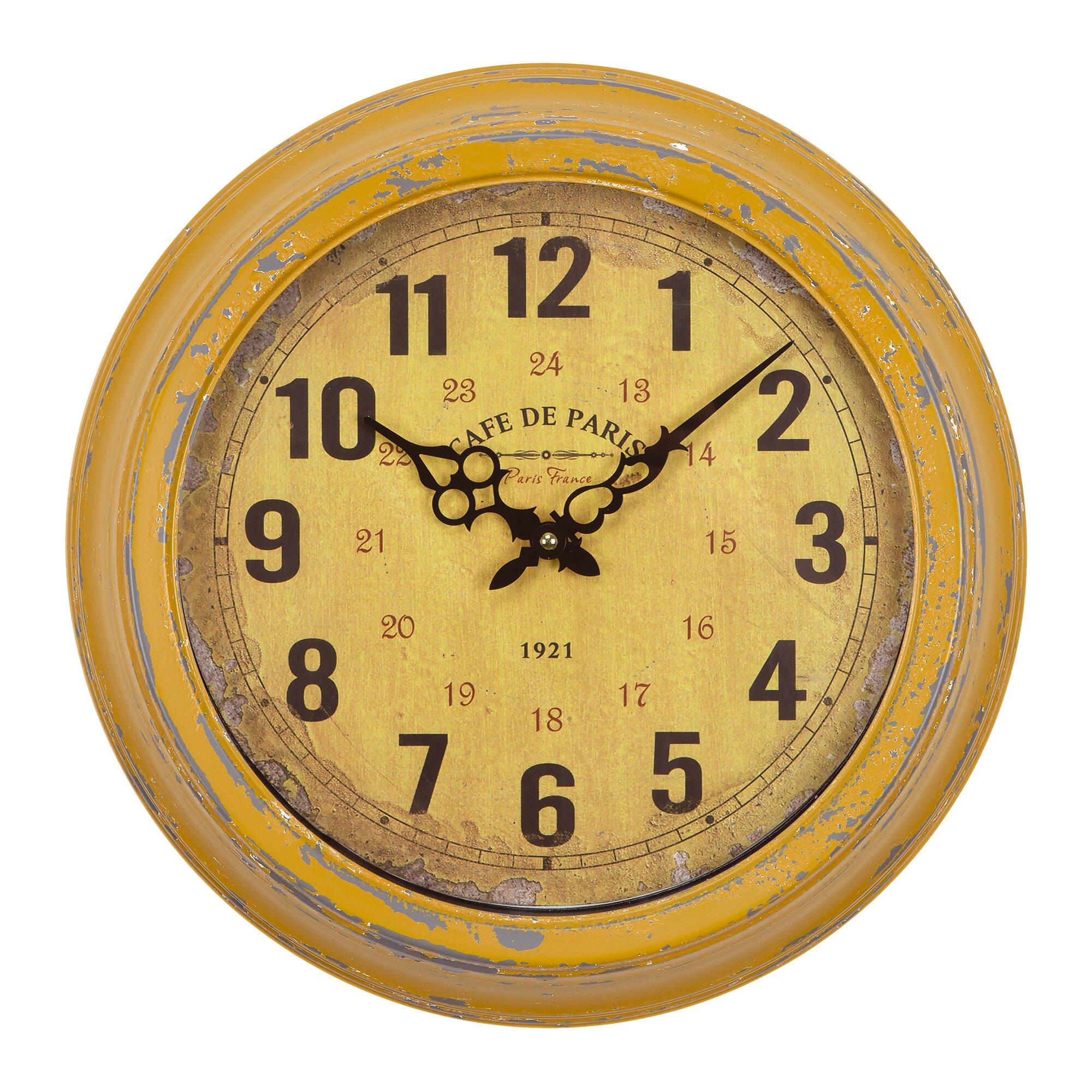Yellow 16 Quot Wall Clock Amp Reviews Birch Lane