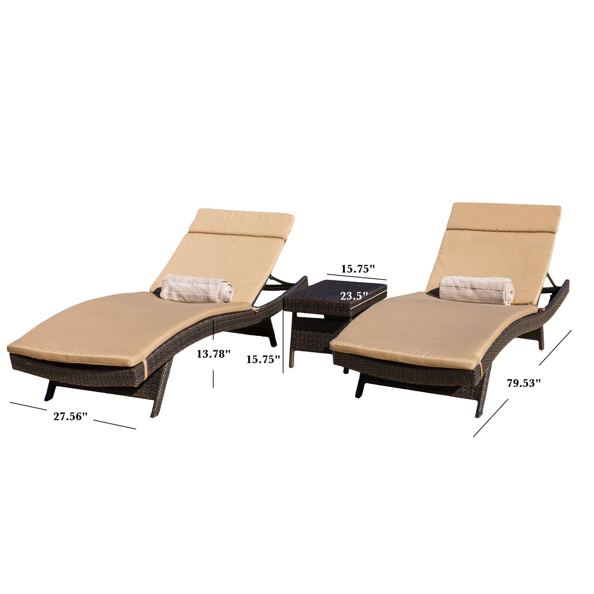 Home Loft Concepts Rio Vista Chaise Lounge Set with Cushion & Reviews