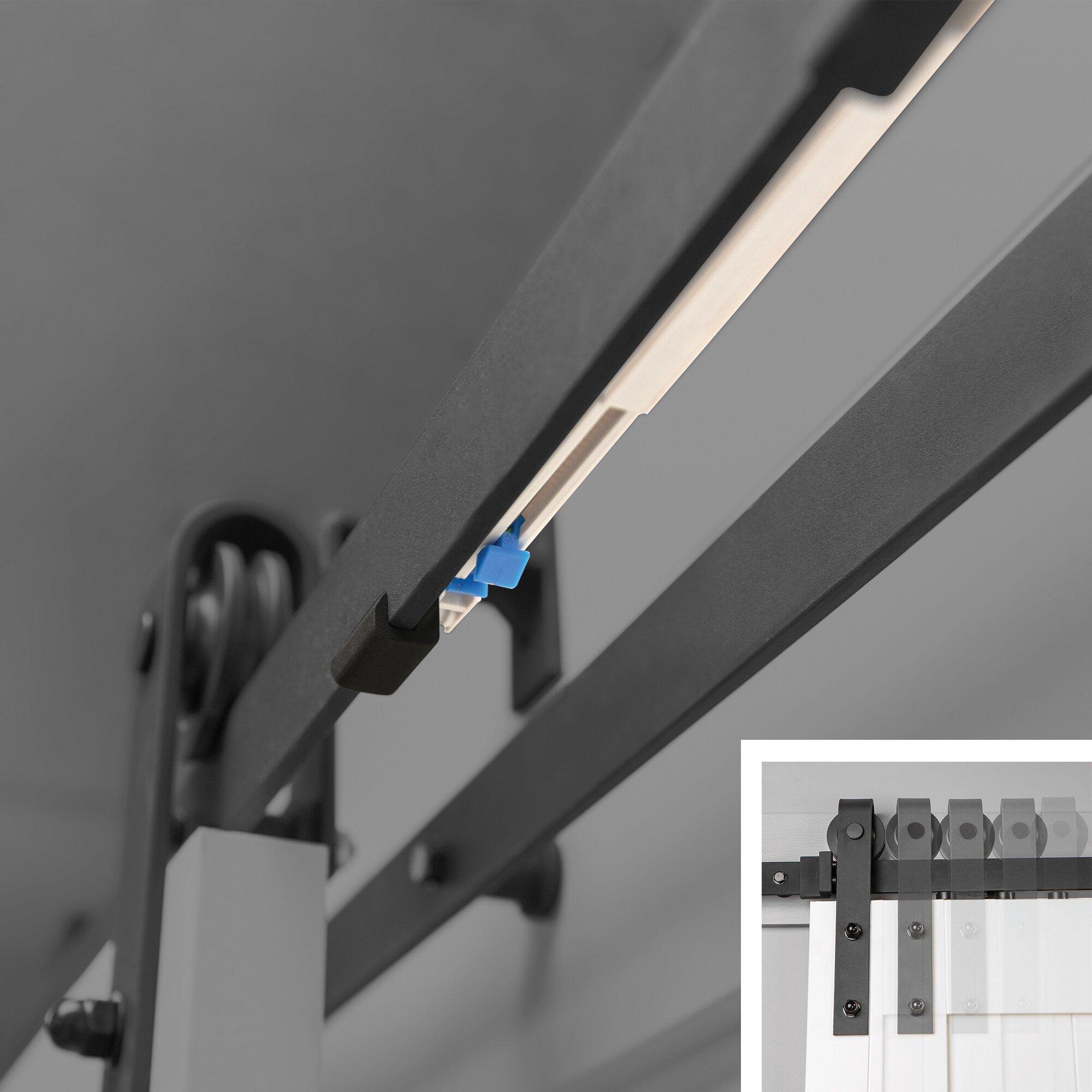 erias home designs easy clip soft close barn door hardware kit