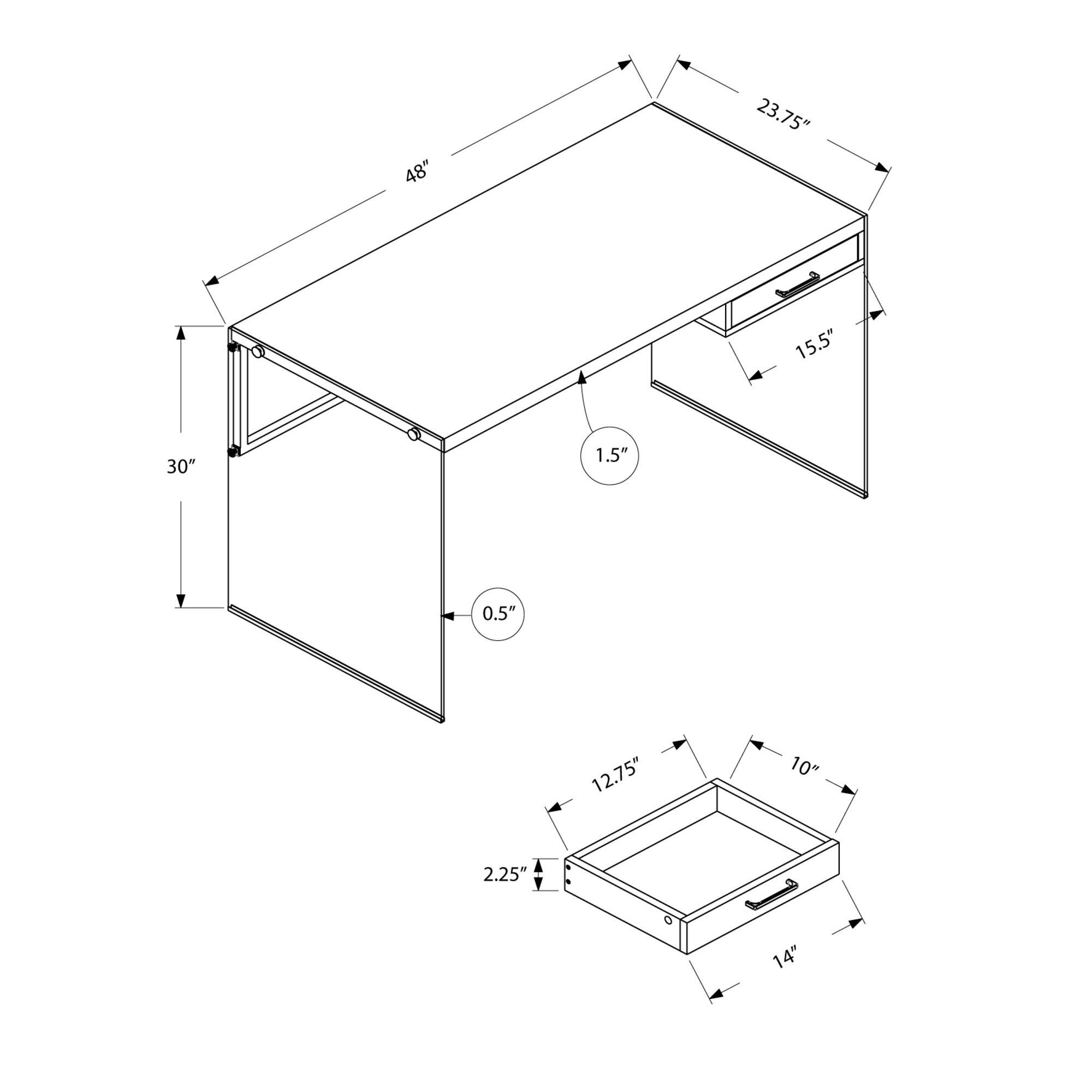 Monarch Specialties Inc Niles Computer Desk Amp Reviews