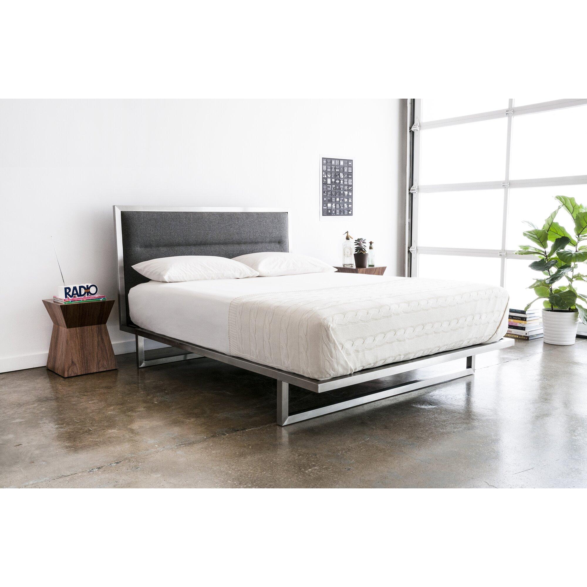 Midway upholstered platform bed reviews allmodern - Seagrass platform bed ...