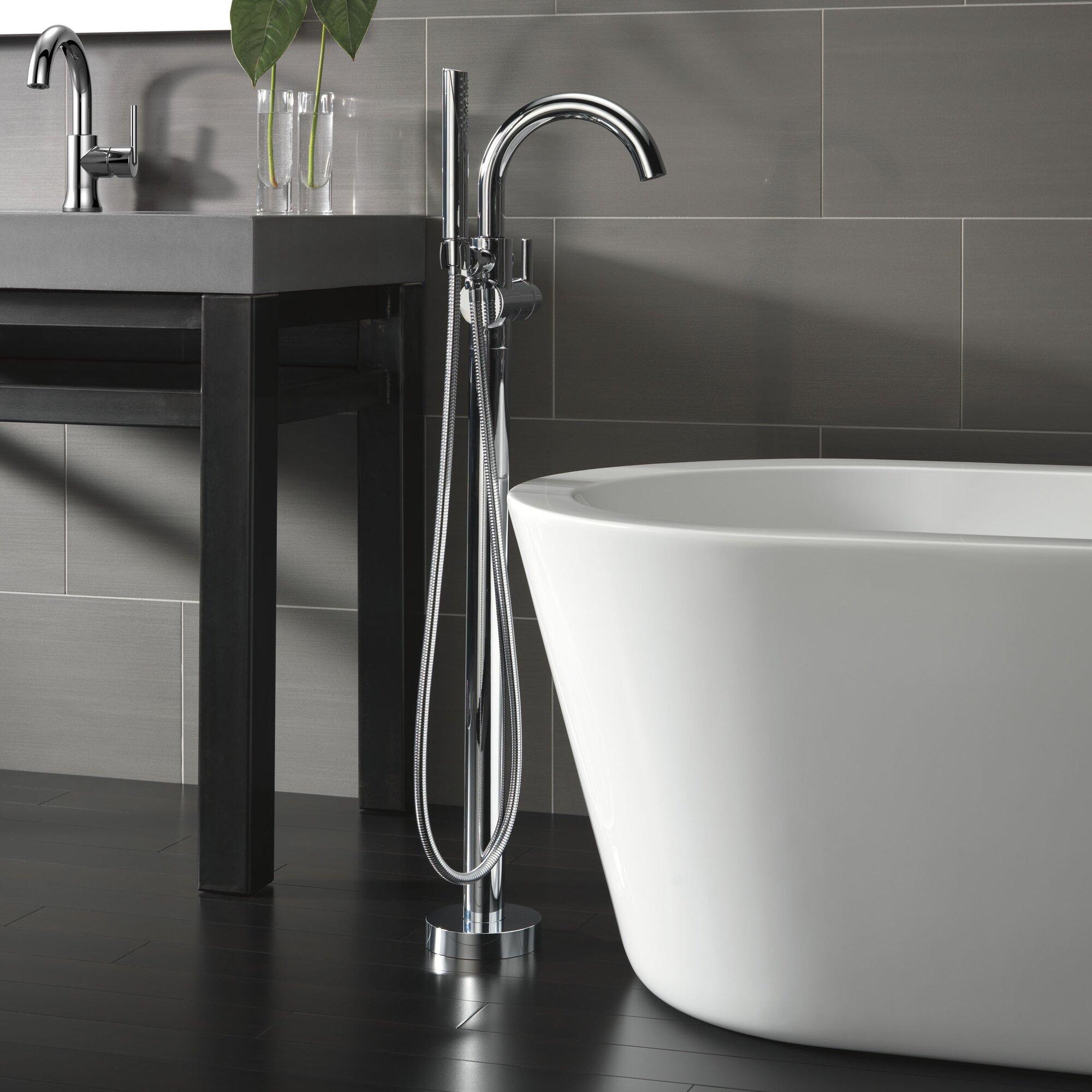 Trinsic 174 Bathroom Single Handle Floor Mount Tub Filler