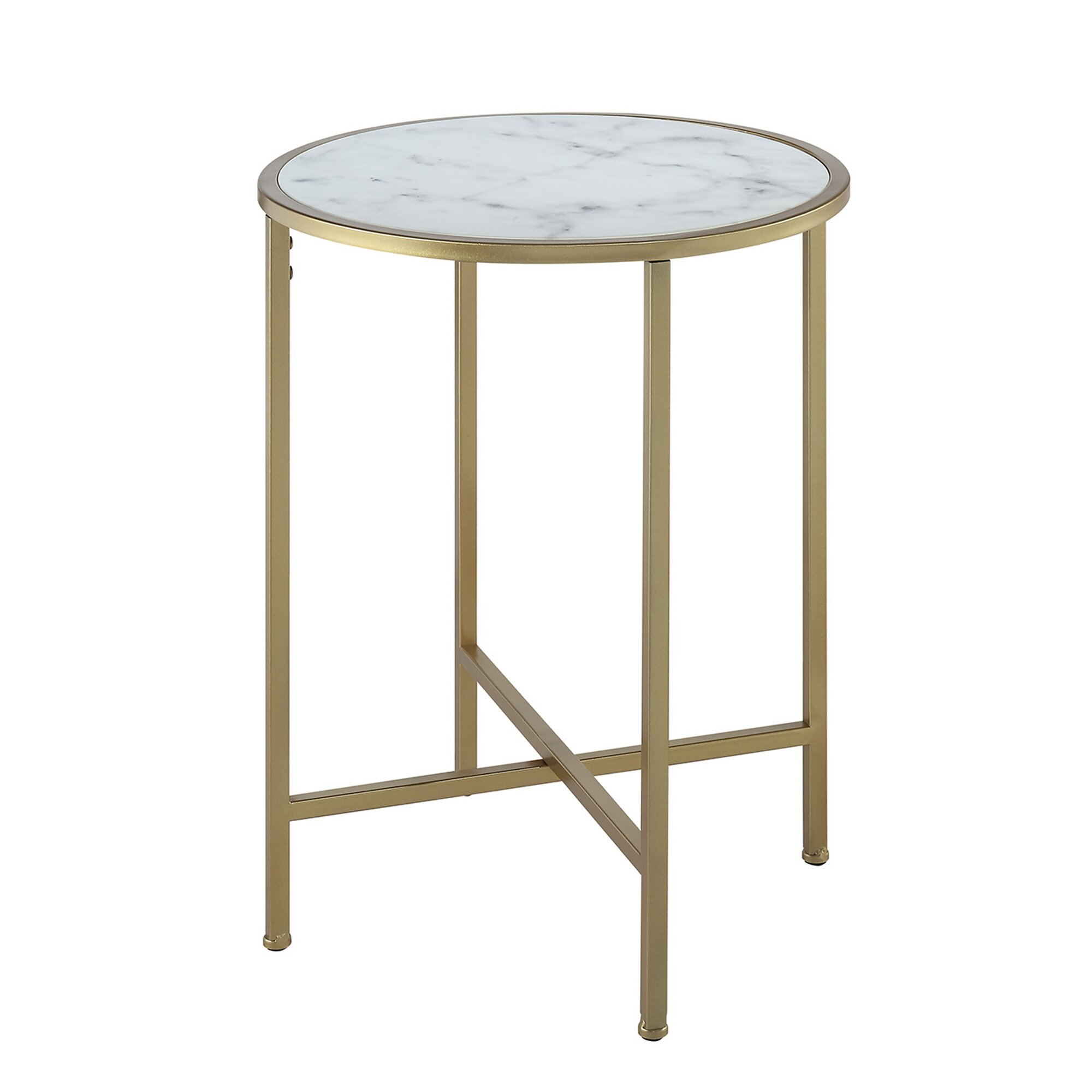 Round End Table Vennilux Grayish Brown