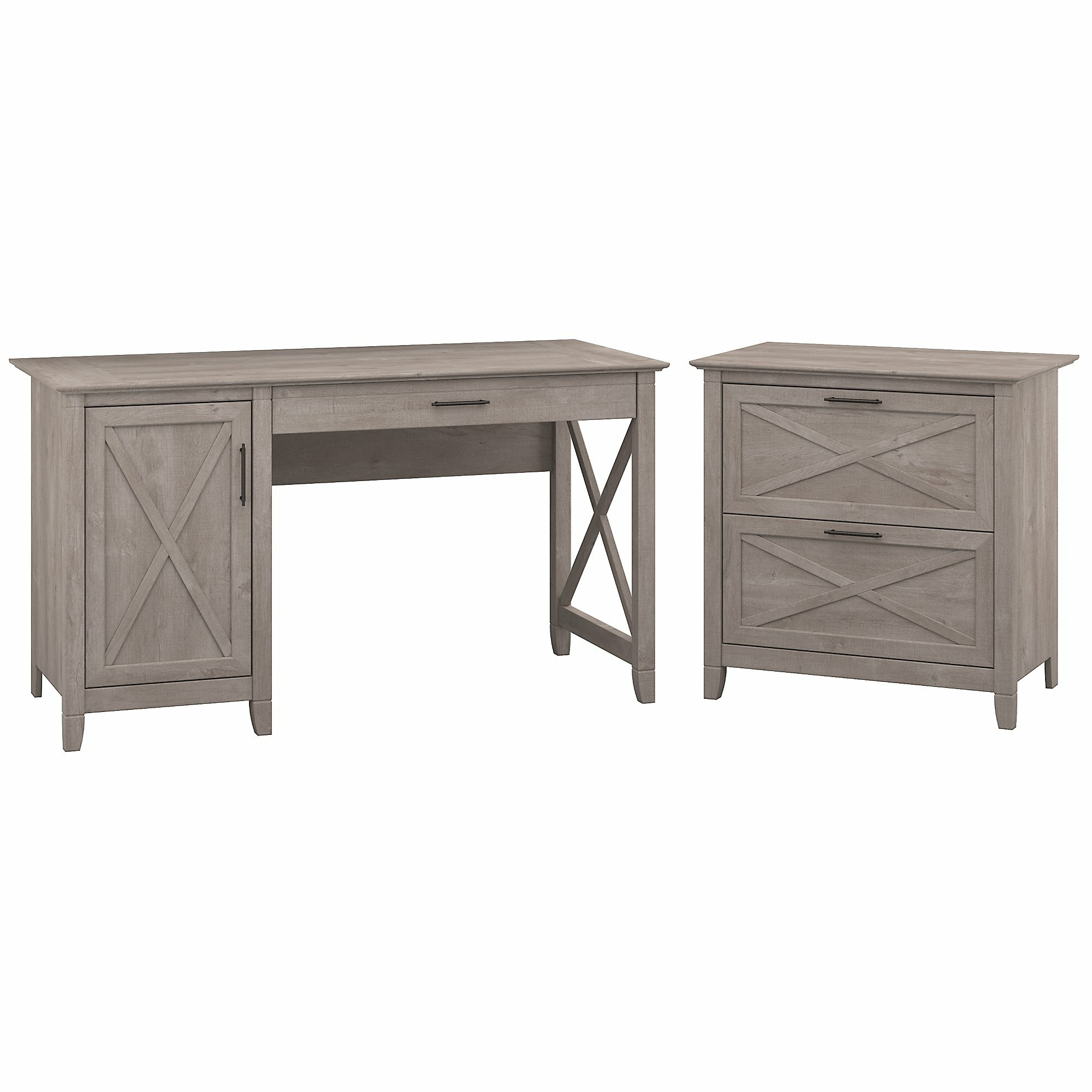Oridatown Single Pedestal Computer Desk With Lateral File