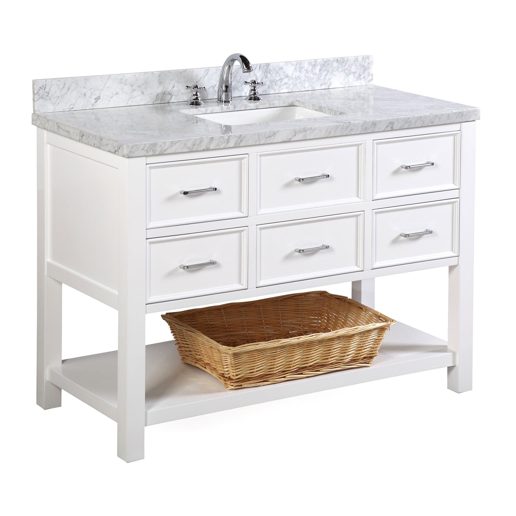 Wayfair bathroom cabinets - New Hampshire 48 Single Bathroom Vanity Set