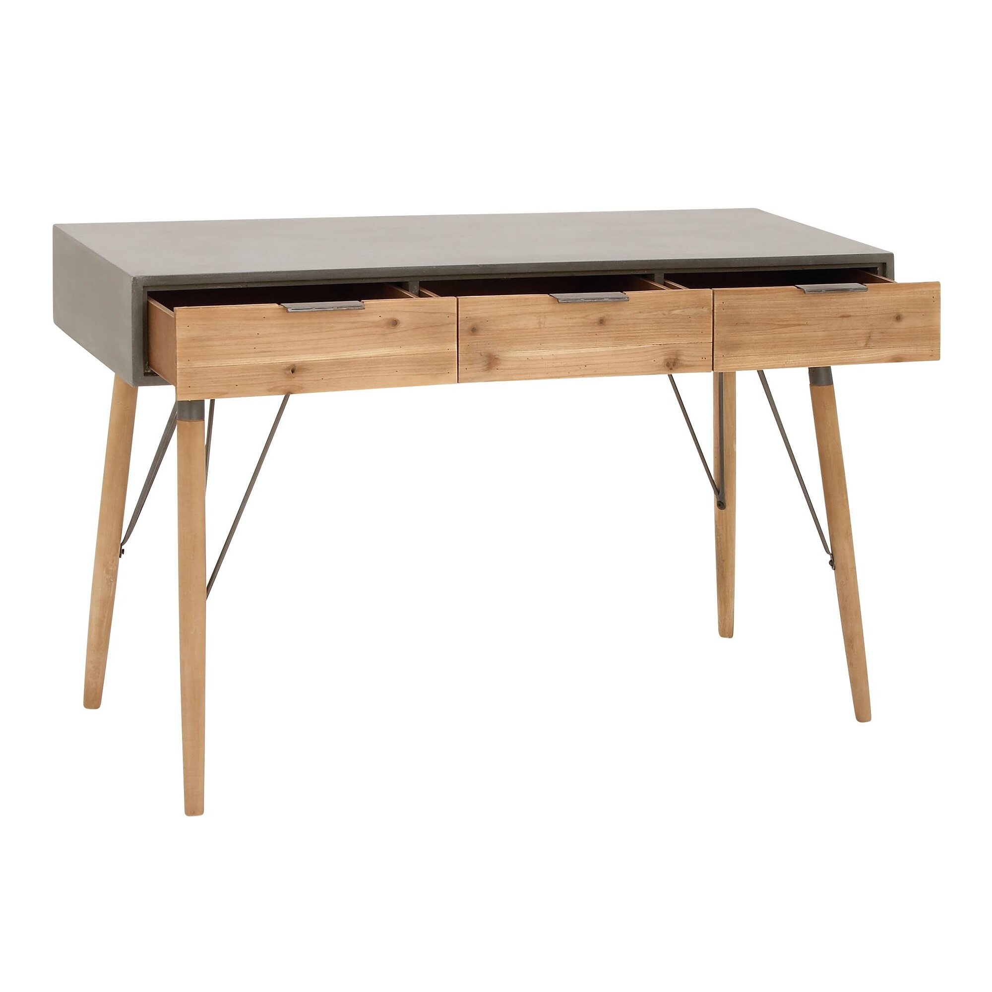 Wood and metal console table reviews allmodern