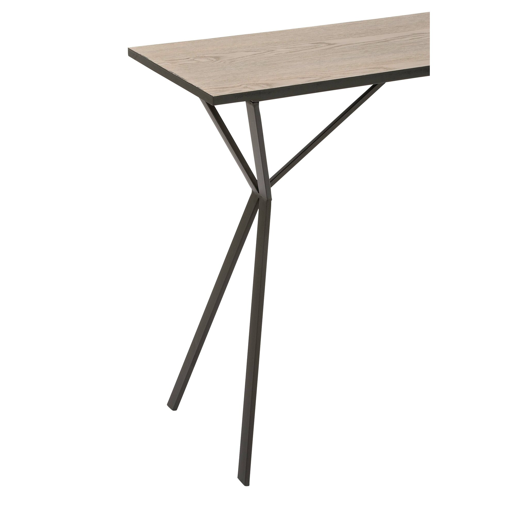 Metal wood console table allmodern for Metal and wood console tables