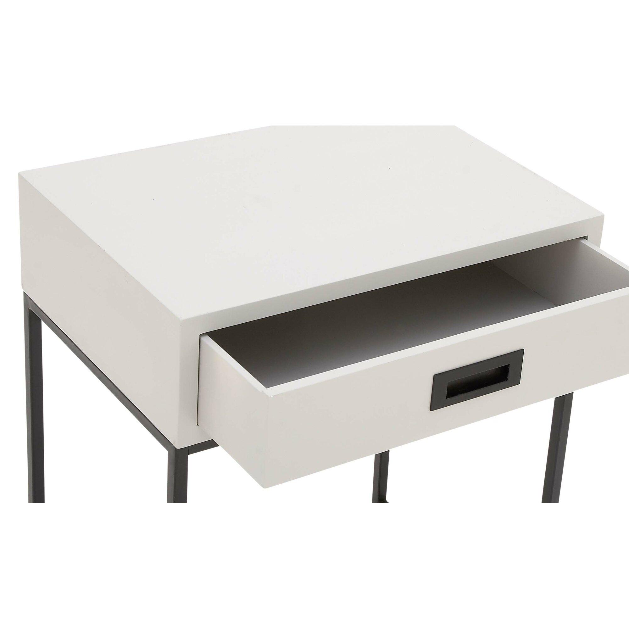 wood and metal end table reviews allmodern. Black Bedroom Furniture Sets. Home Design Ideas