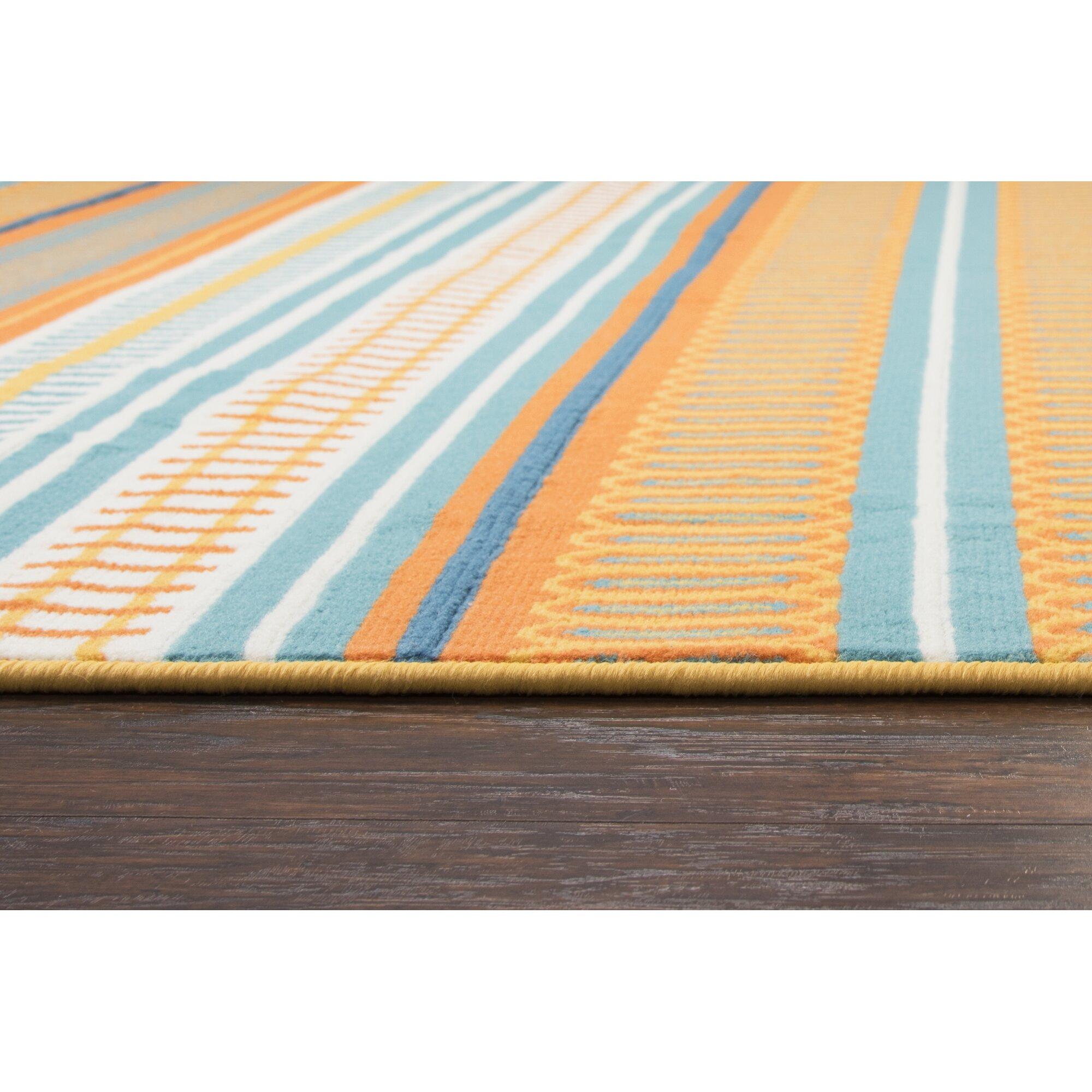 Zipcode Design Terry Orange Blue Indoor Outdoor Area Rug
