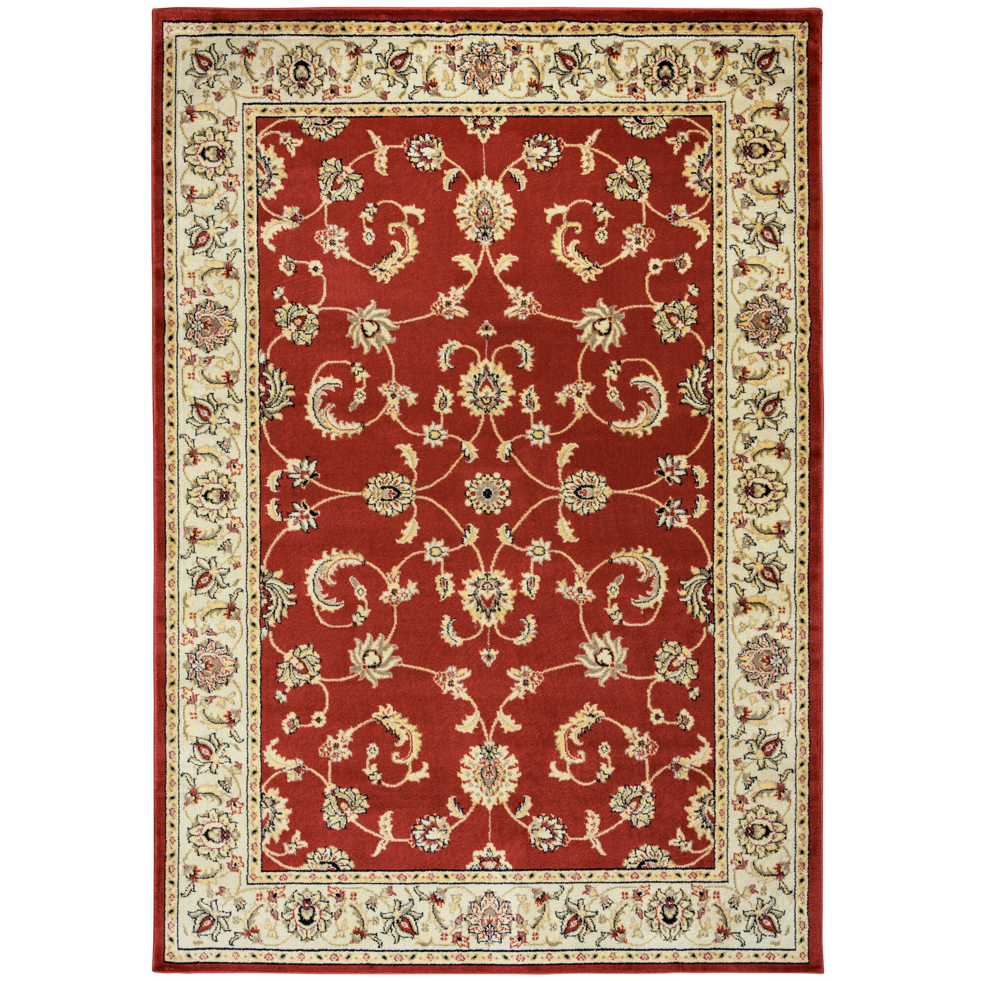Threadbind culver red floral indoor outdoor area rug for Red floral area rug