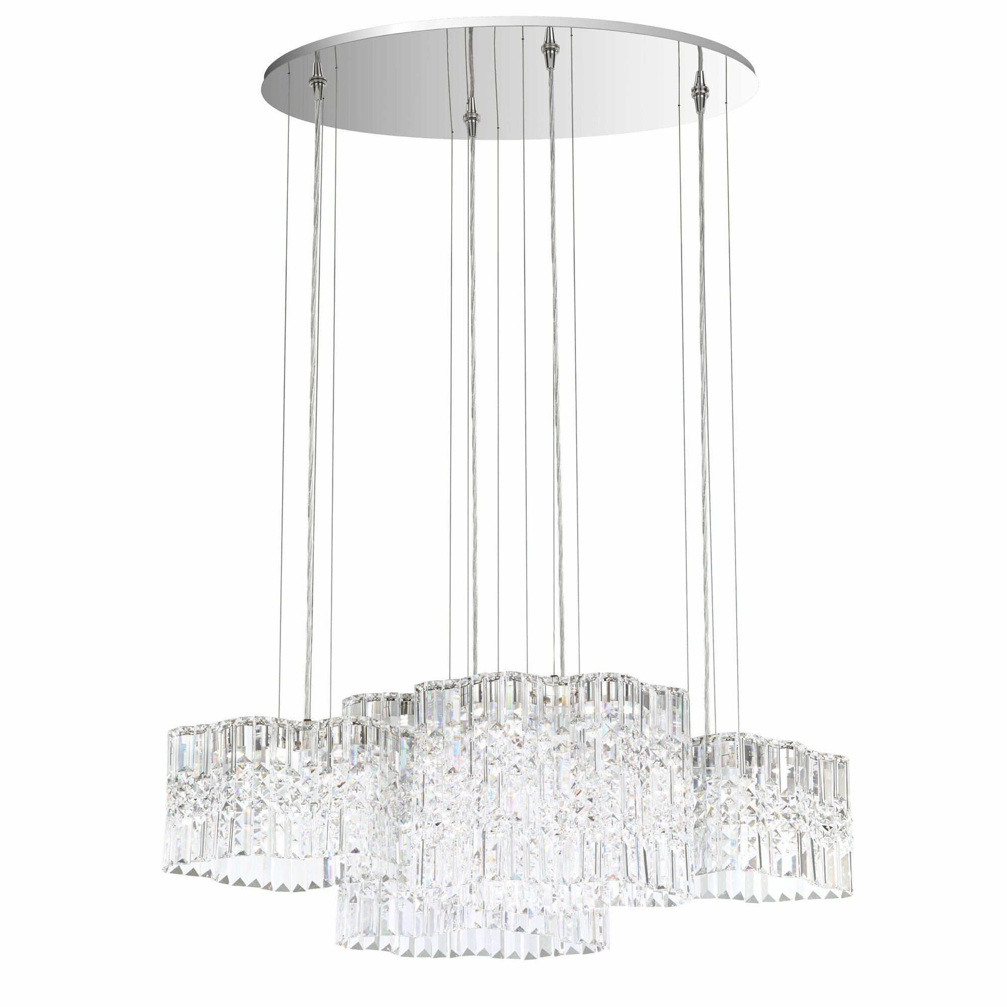 Swarovski Selene 8-Light LED Kitchen Island Pendant