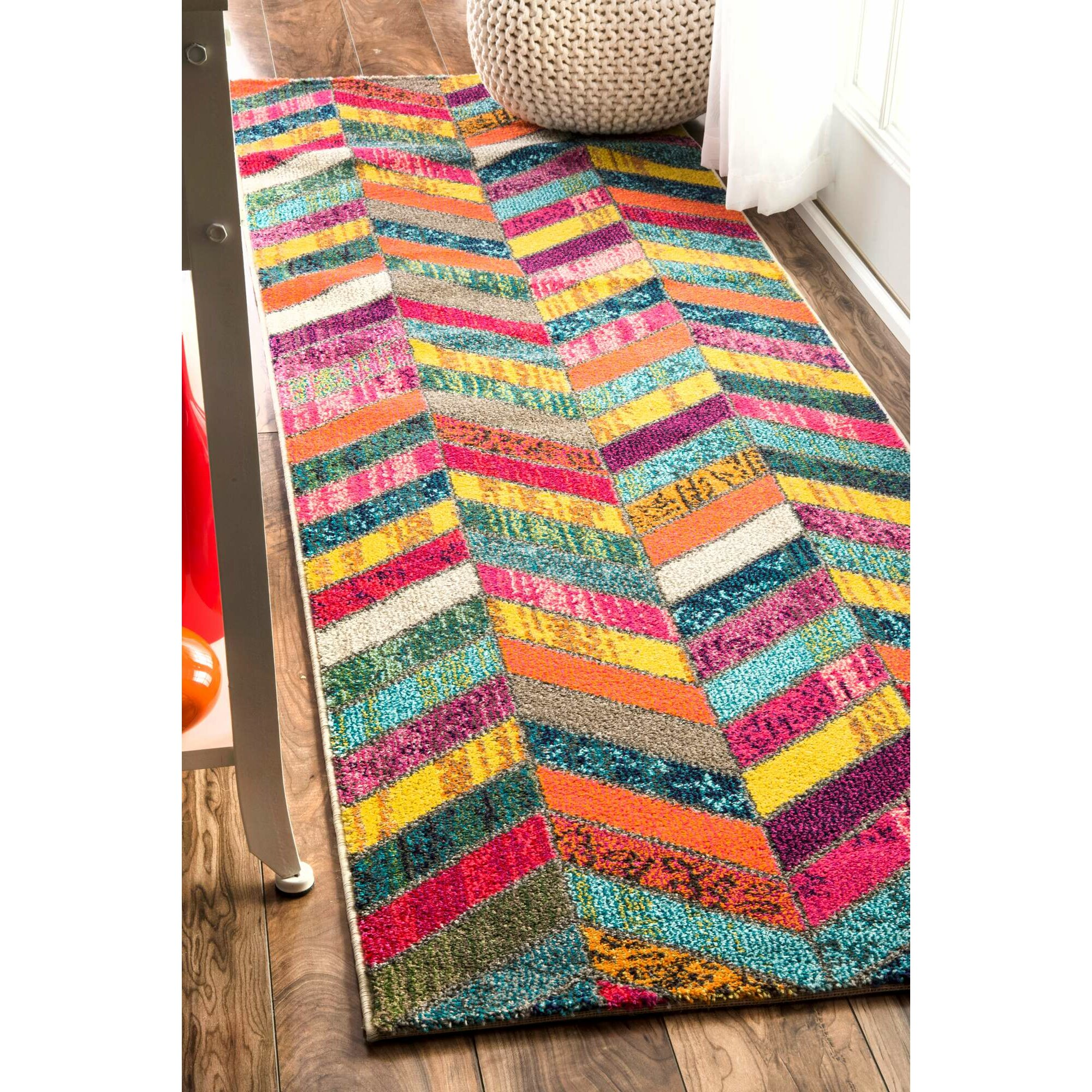 Bungalow Rose Manchester Pink/Green/Yellow Area Rug