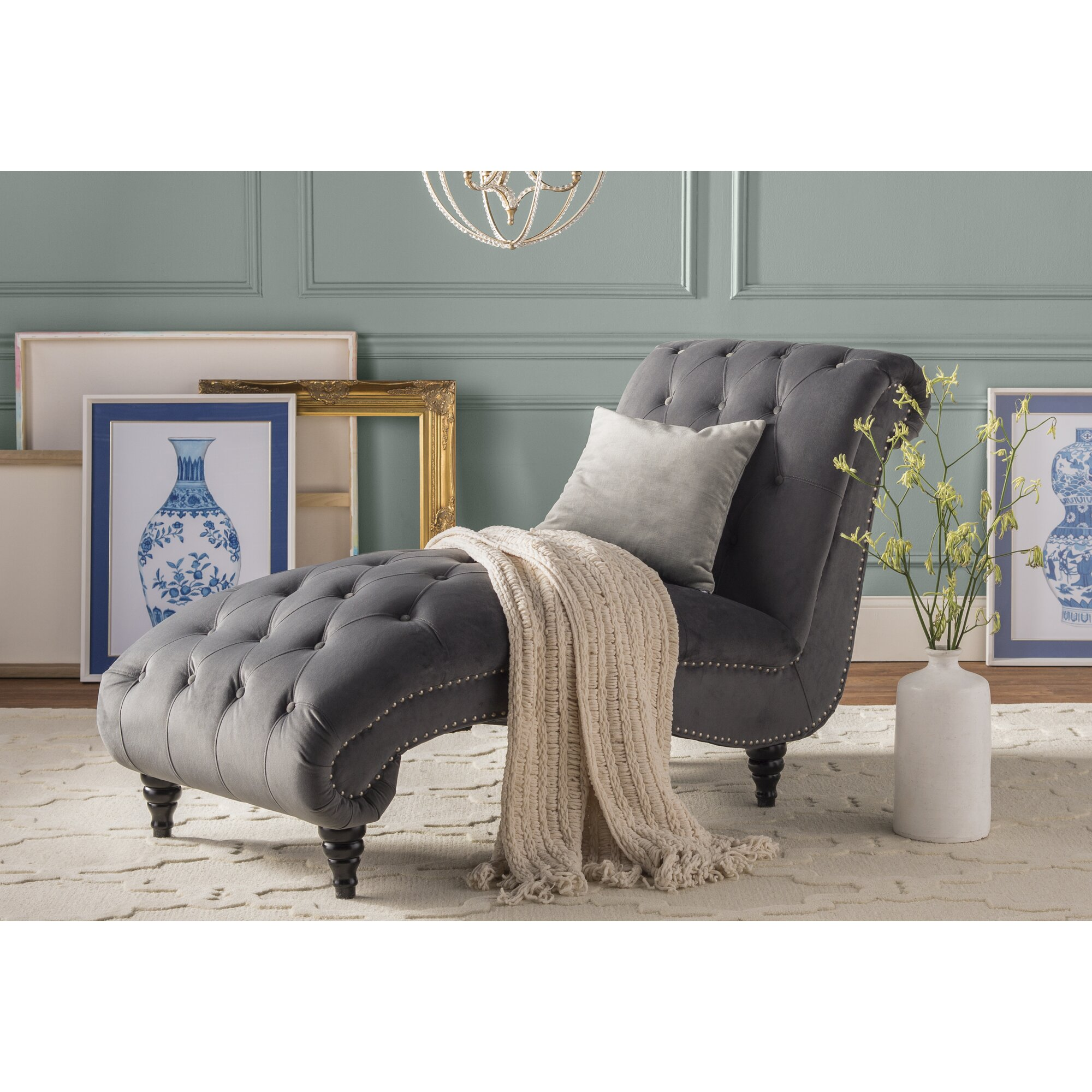 House of hampton kirkby chaise lounge reviews for P a furniture kirkby