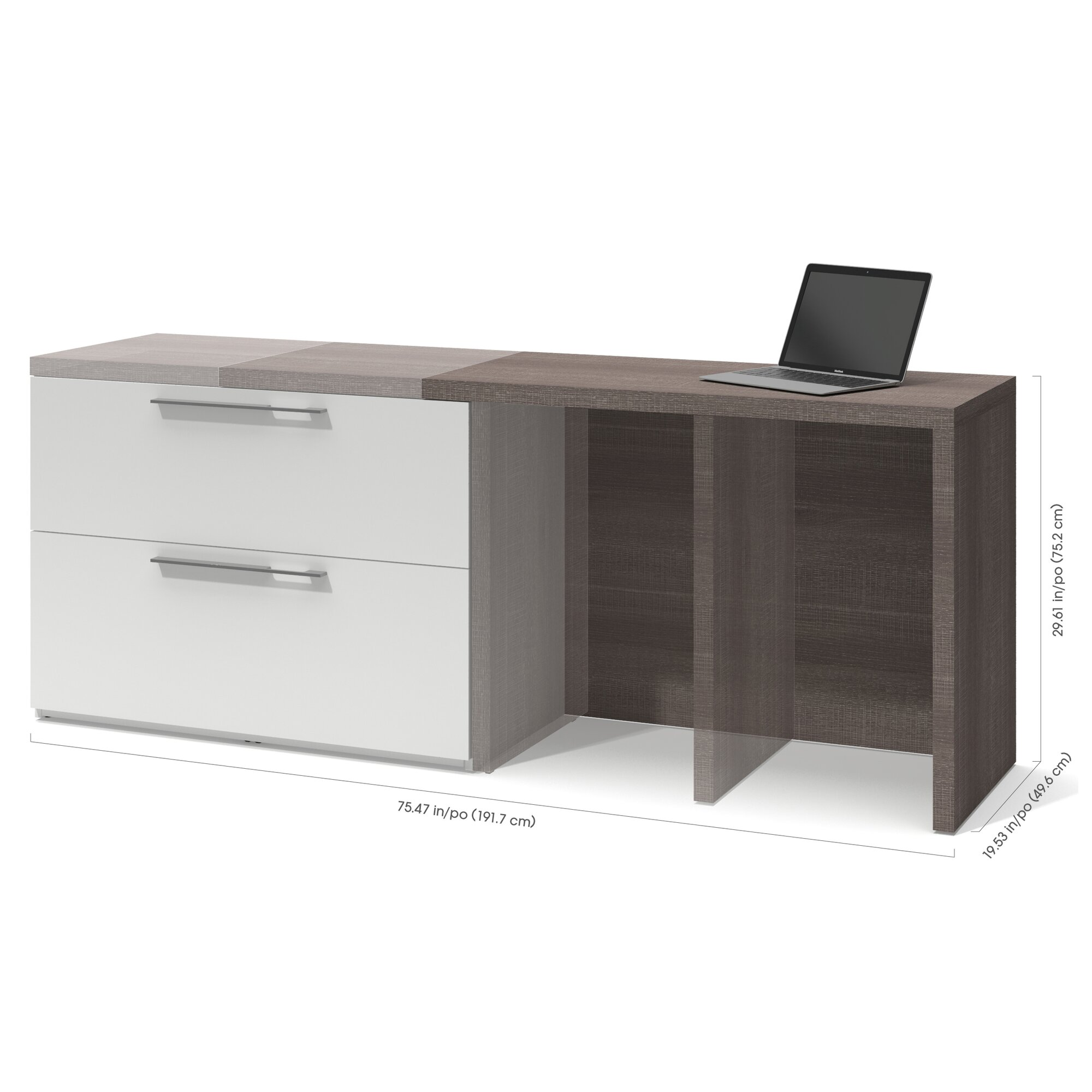 Bestar small space sliding computer desk - Computer desk small space ...
