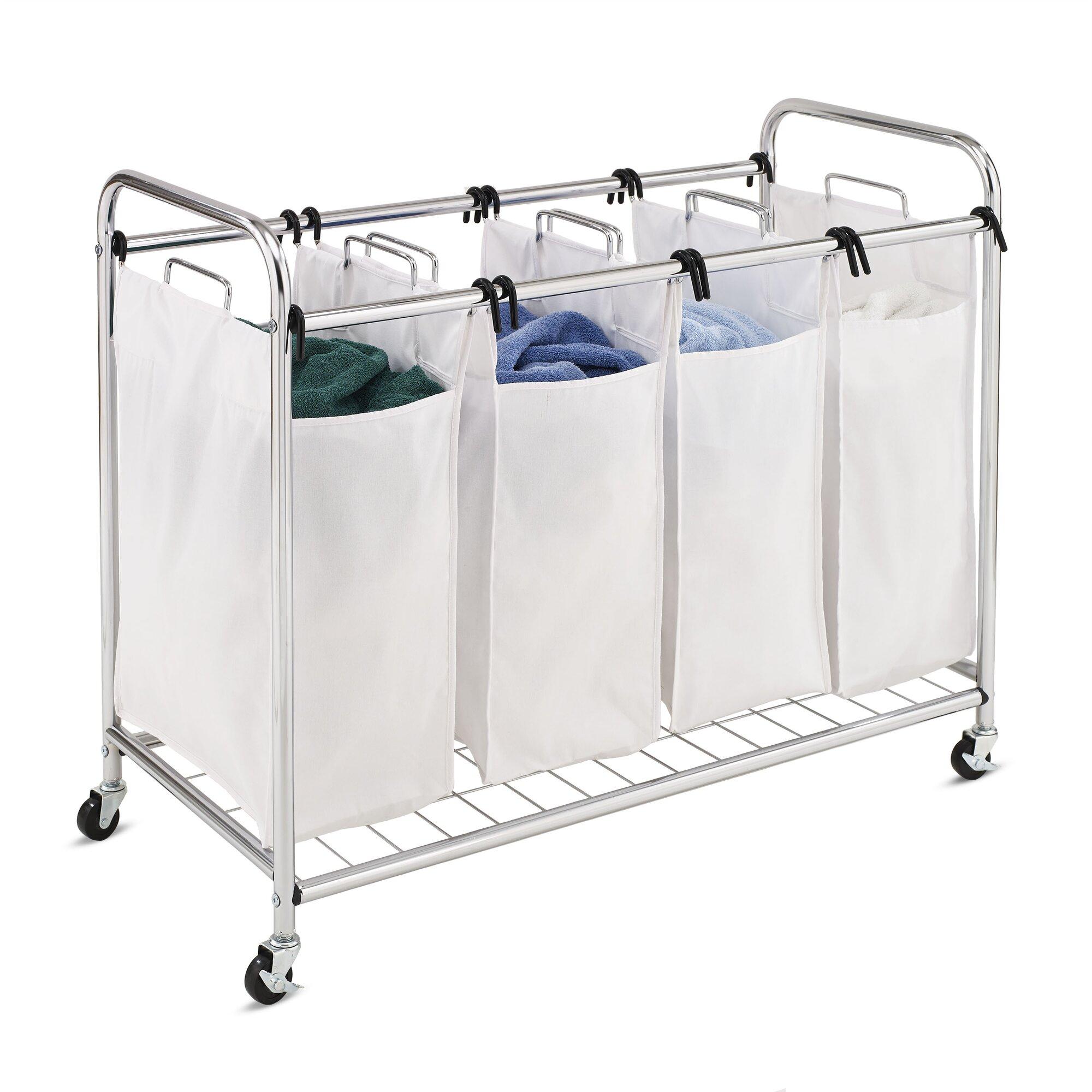 Honey Can Do Heavy-Duty Quad Laundry Sorter & Reviews ...