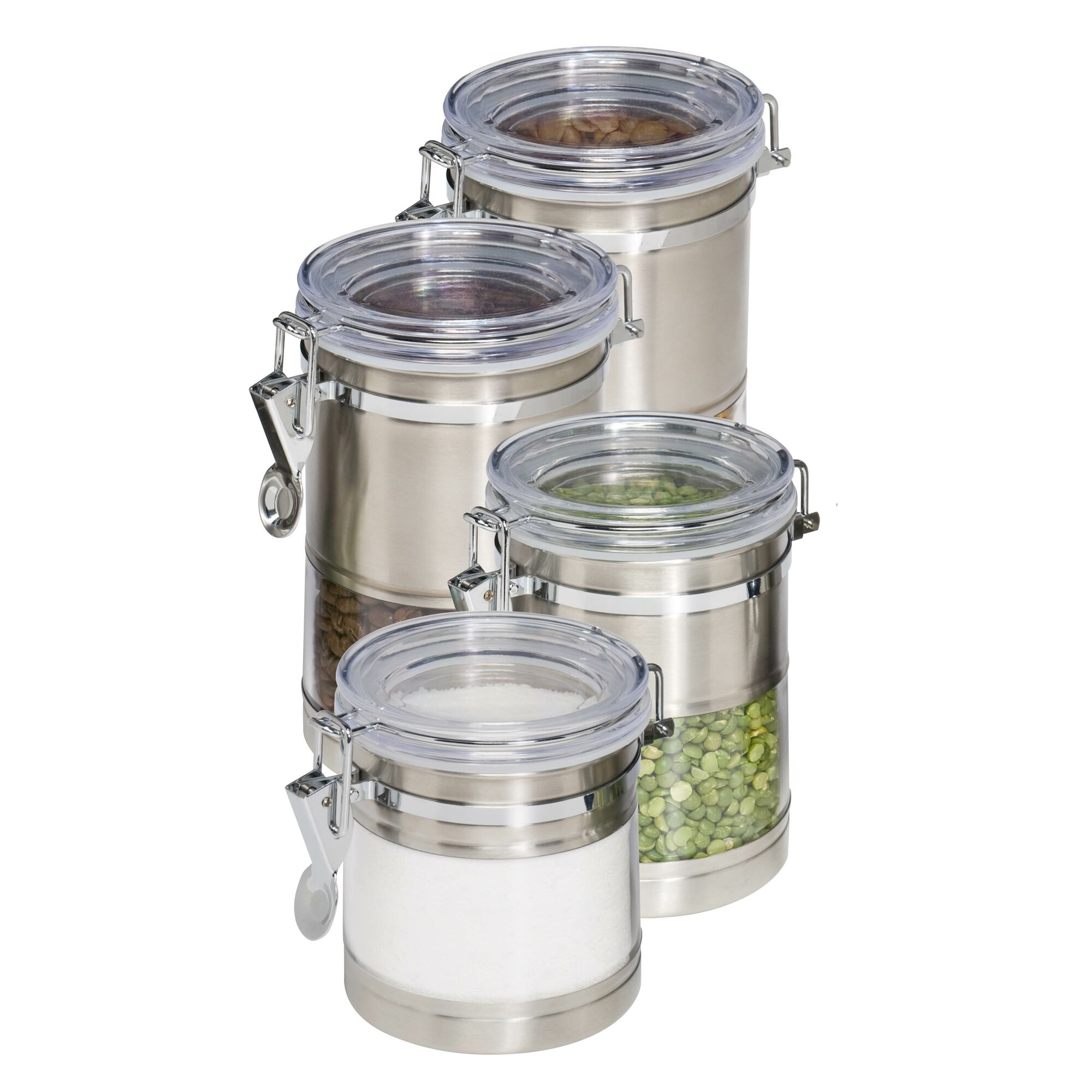 kitchen canister set honey can do 4 piece kitchen canister set reviews wayfair