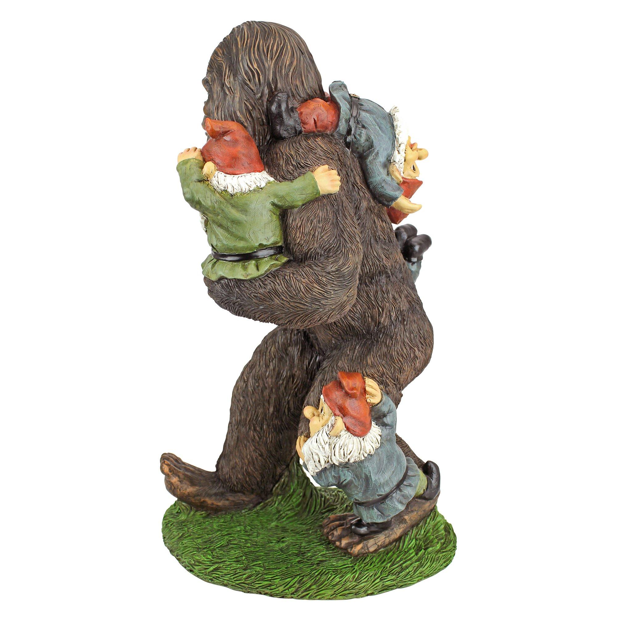 Design Toscano Schlepping the Garden Gnomes Bigfoot Statue ...
