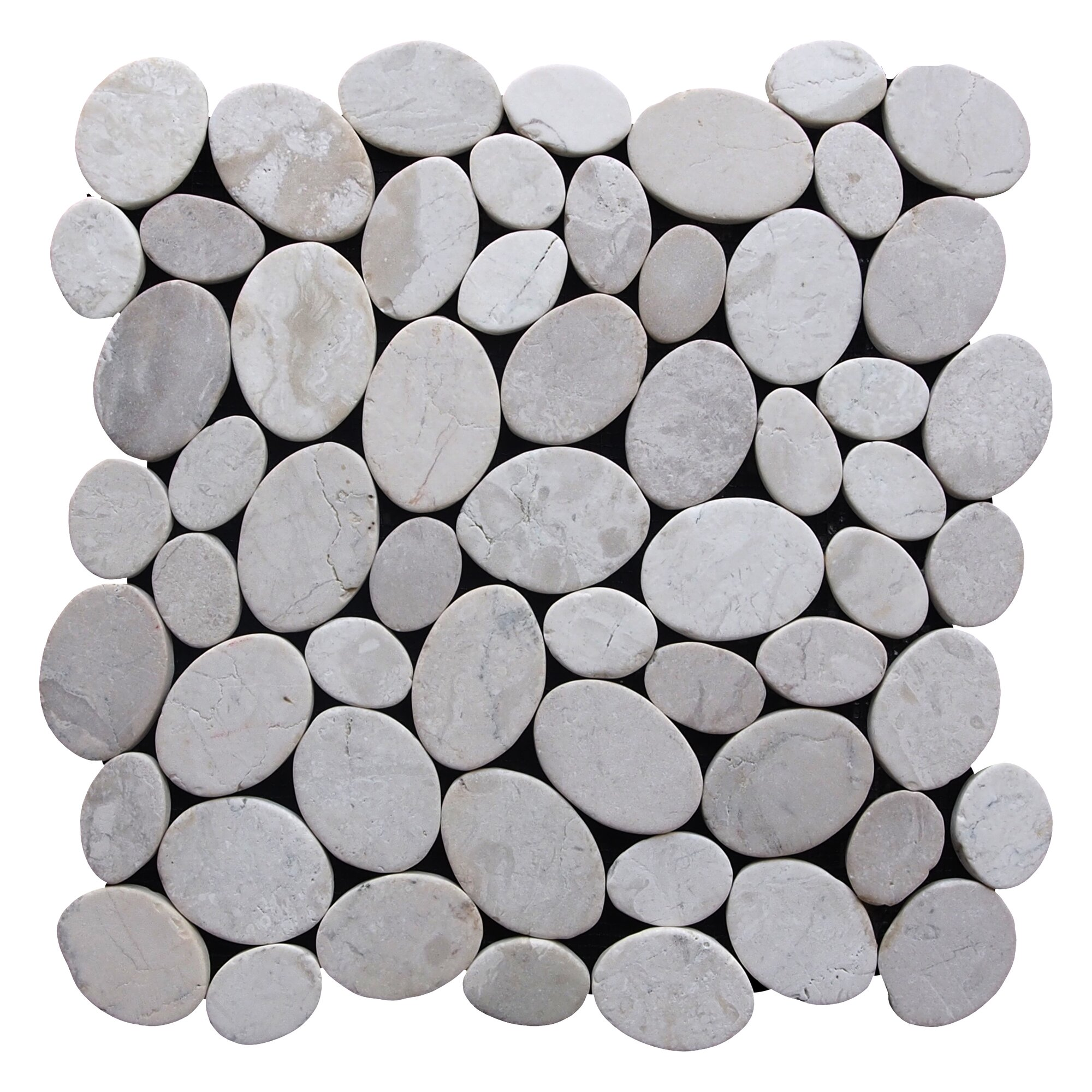 Pebble Stone Tile >> Pebble Tile Coin Random Sized Natural Stone Pebble Tile in