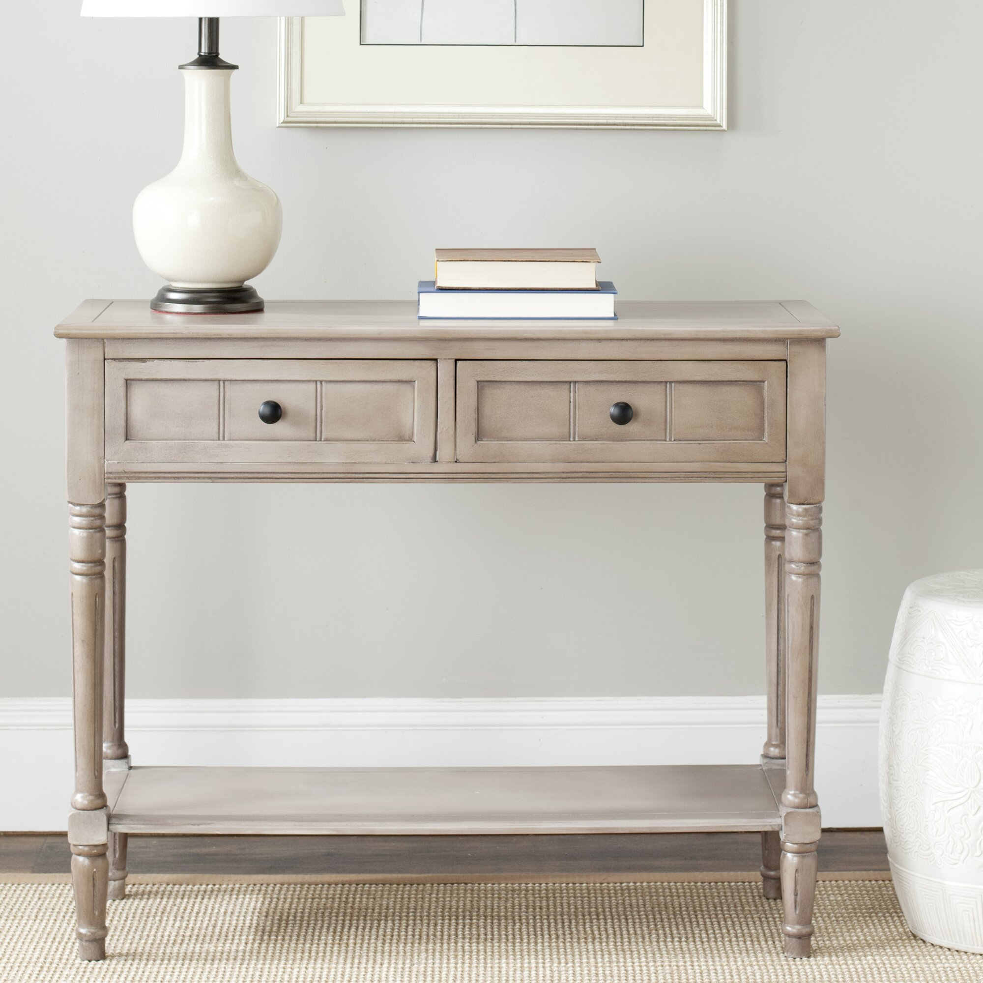 manning 2 drawer console table reviews birch lane. Black Bedroom Furniture Sets. Home Design Ideas