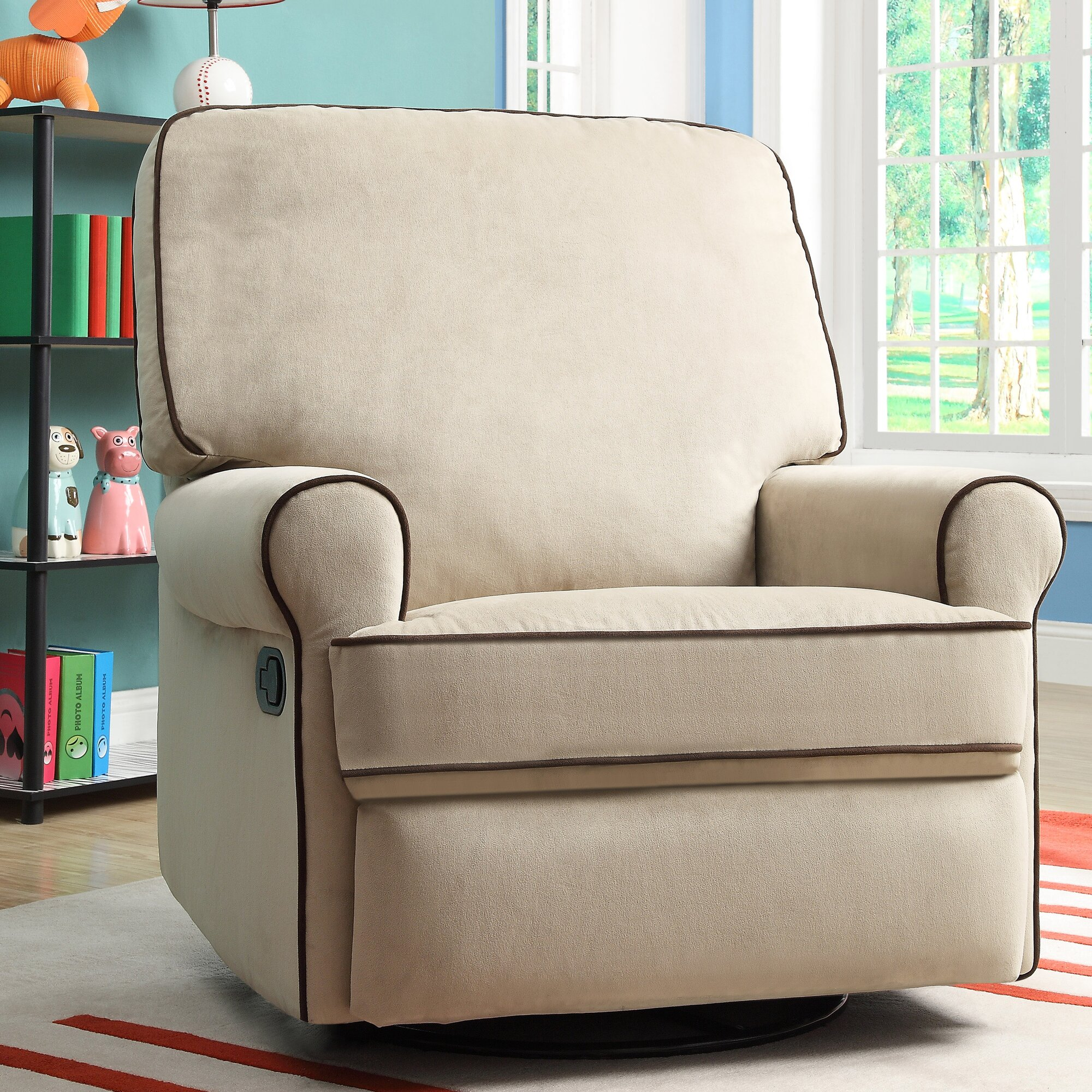 tarik swivel reclining glider - Swivel Recliner Chairs For Living Room