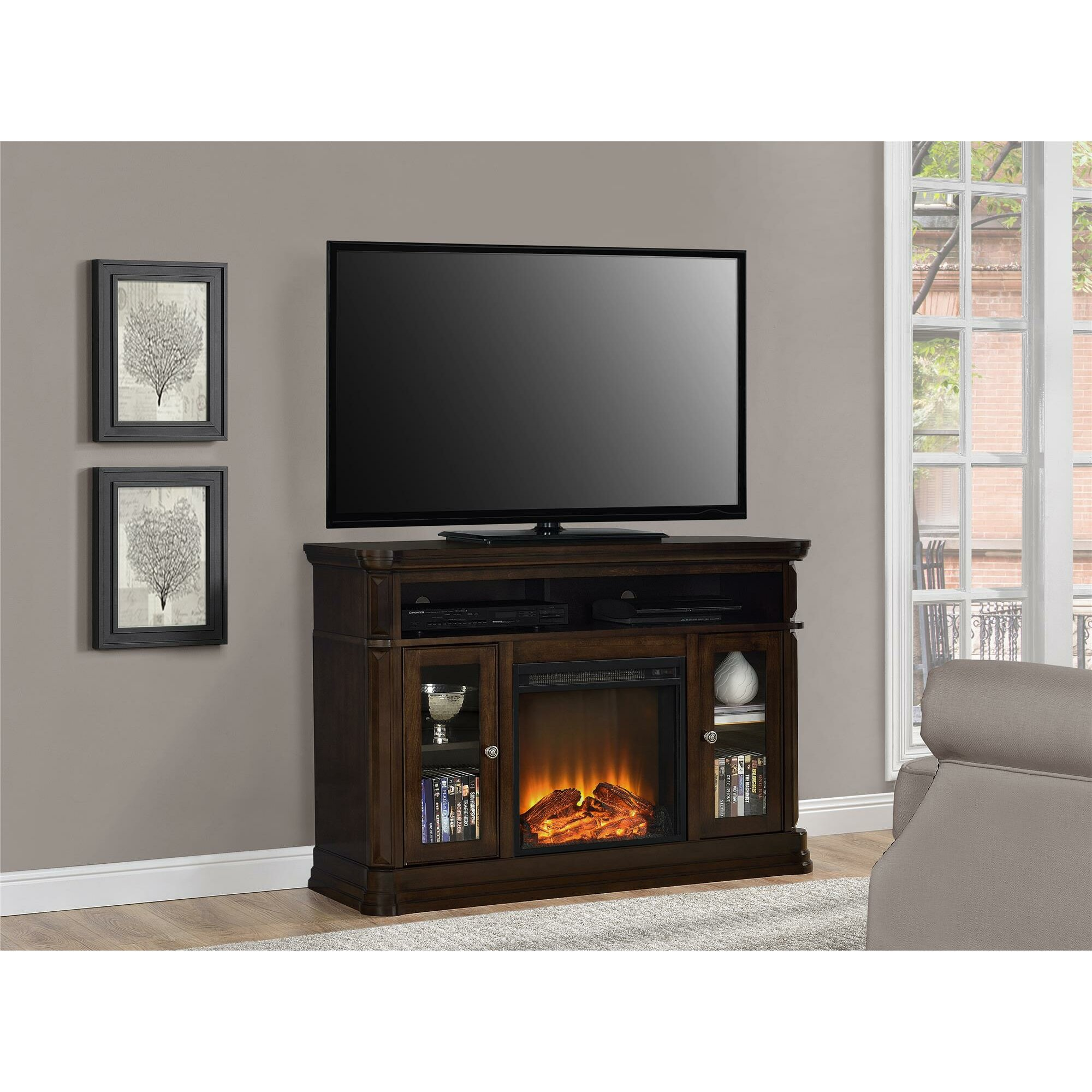 Astoria Grand Ganado 473 TV Stand with Electric Fireplace