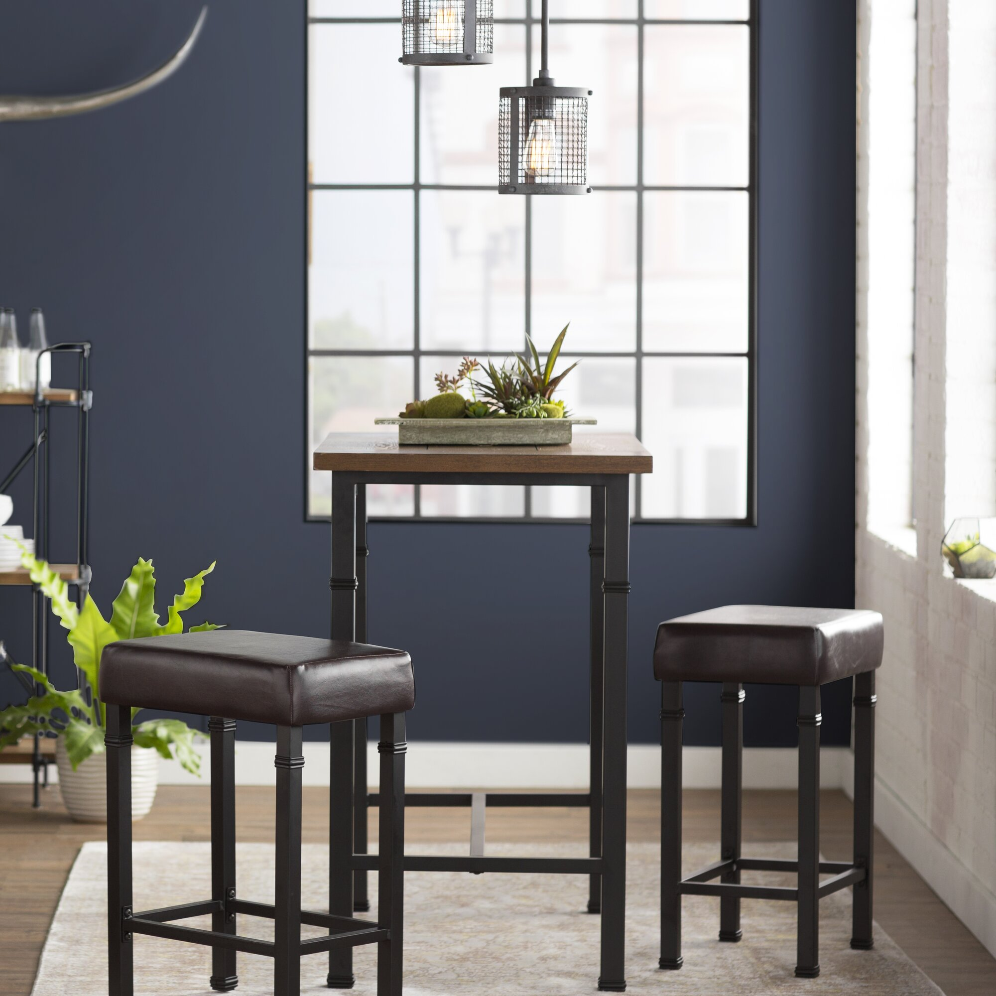 Kitchen bar table sets - Sevigny 3 Piece Pub Table Set