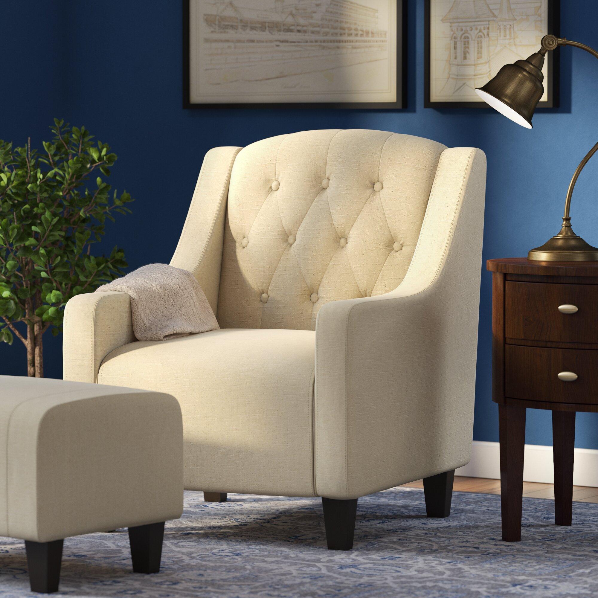 2 Piece Bradley Tufted Arm Chair Amp Ottoman Set Amp Reviews