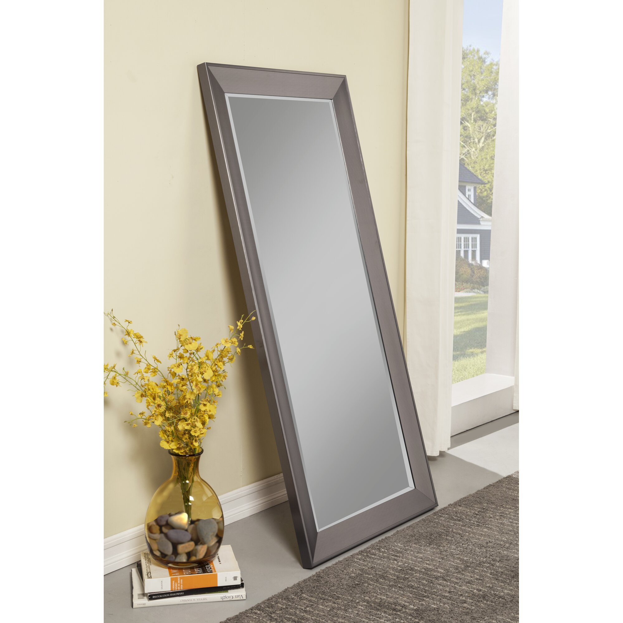Floor Mirrors Youll Love Wayfair - Decorative gold mirrors