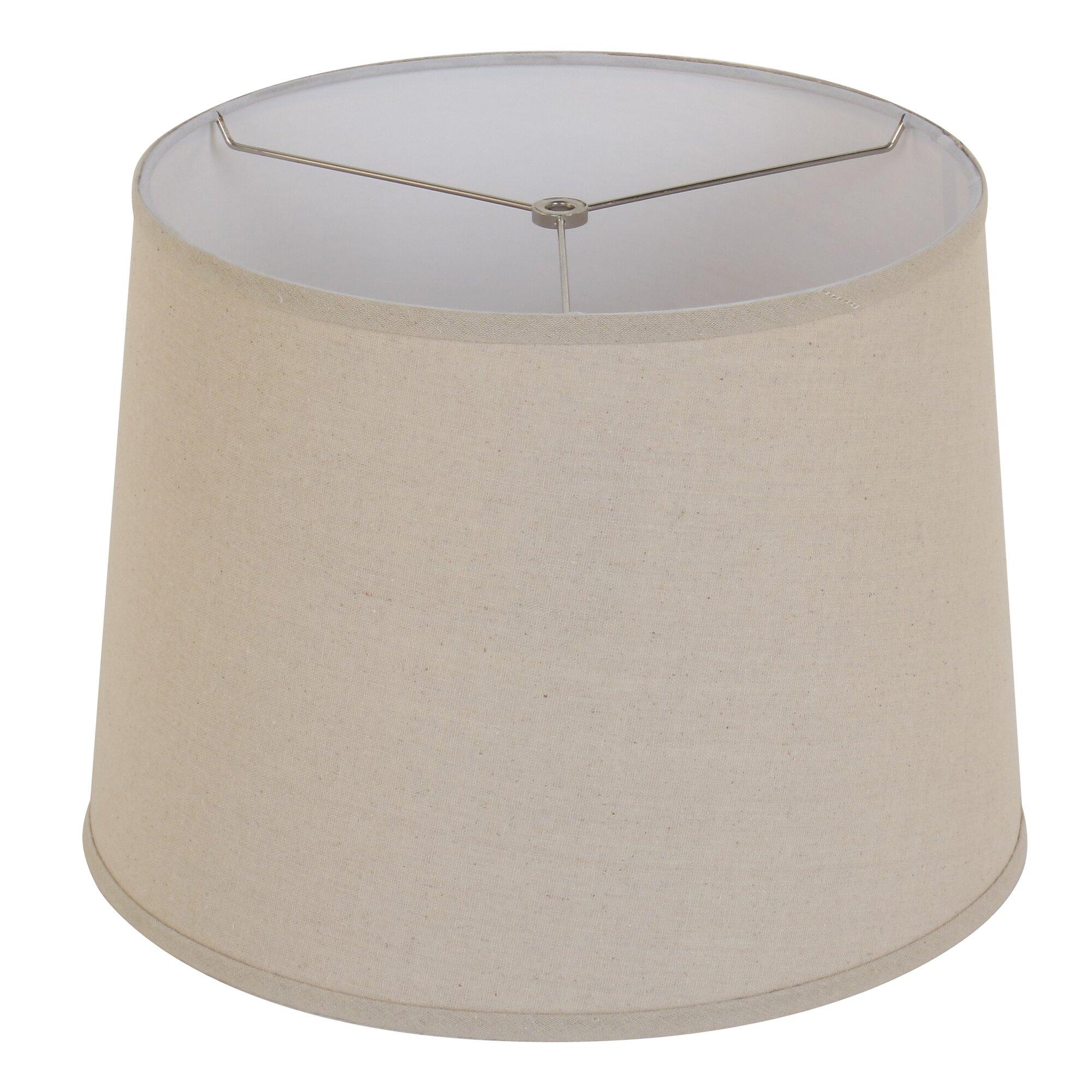 Orange and turquoise lamp shade - 15 Drum Lamp Shade