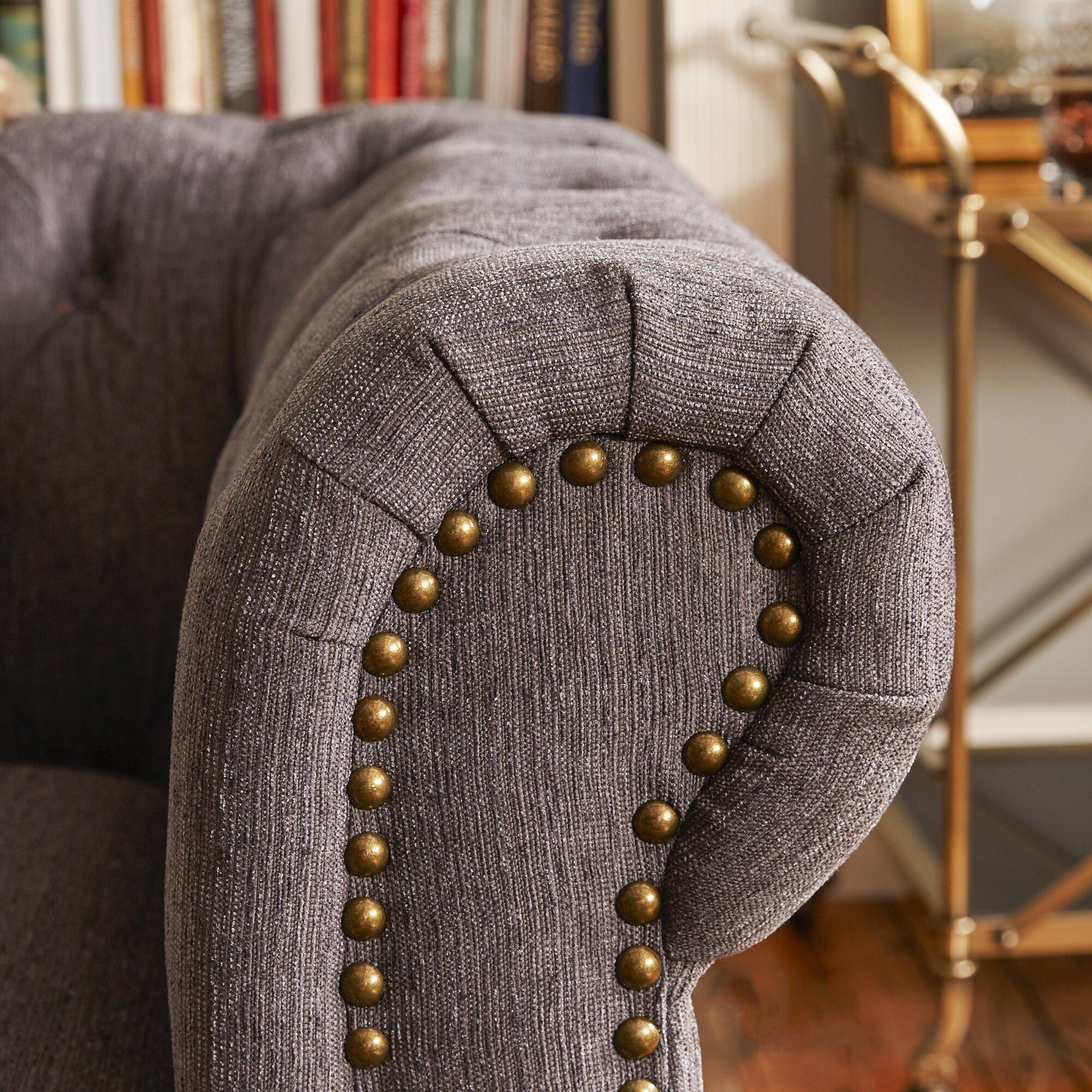 Lindstrom 90 chesterfield sofa reviews allmodern for Lindstrom