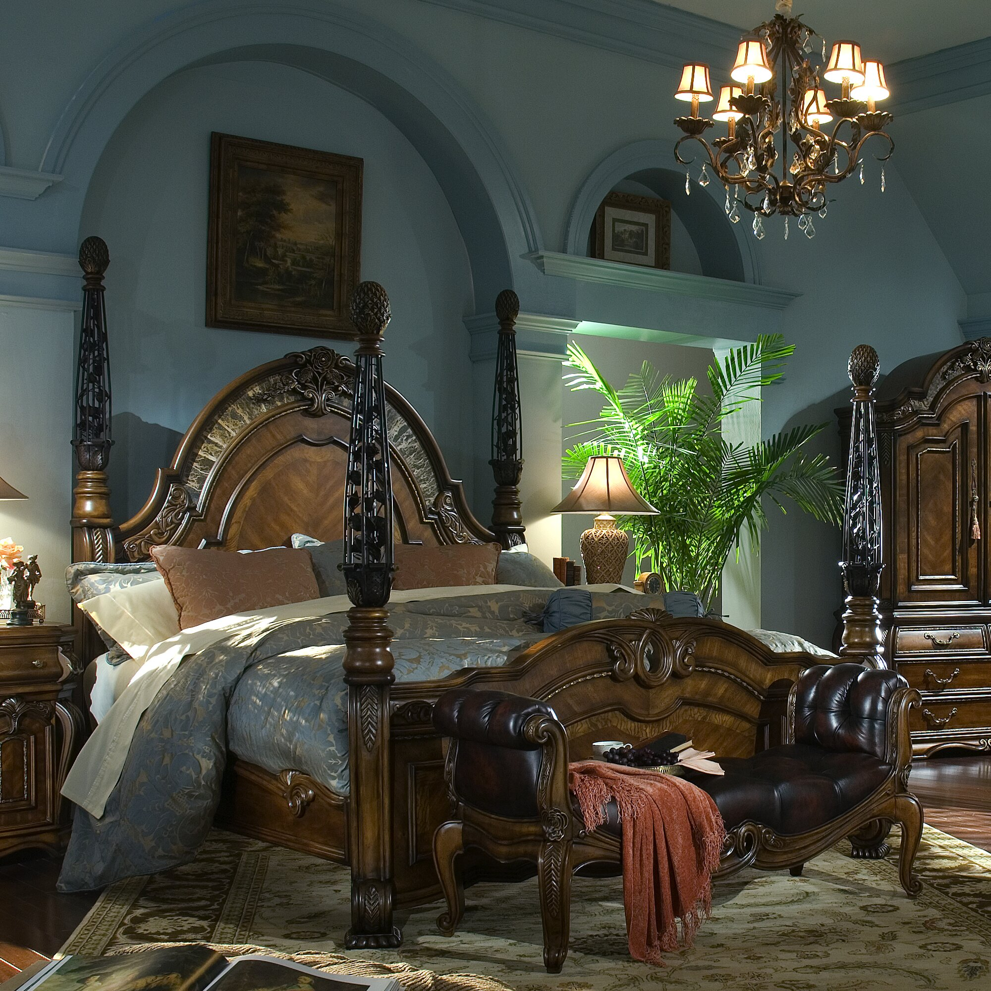 Oppulente Four Poster Bedroom Set With Four Poster Bed Sets.