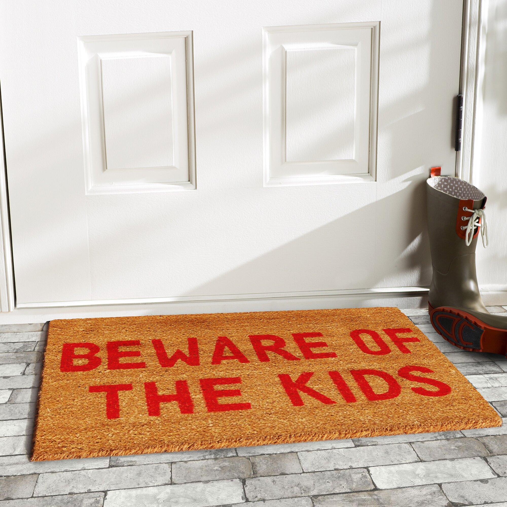 Home & More Beware Of The Kids Doormat & Reviews