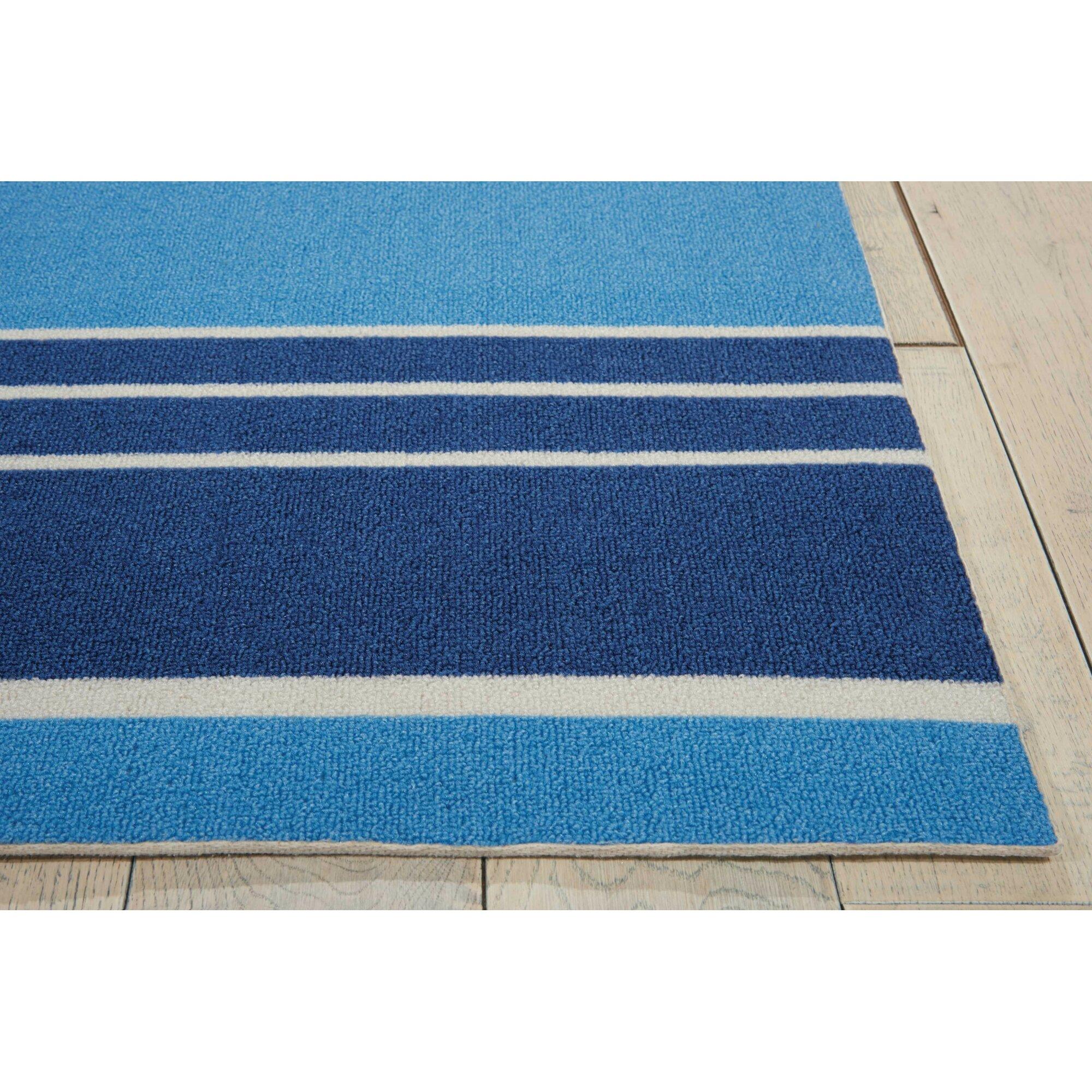 Waverly Sun n' Shade Blue IndoorOutdoor Area Rug & Reviews  Wayfair # Sun Shower Rug_220024