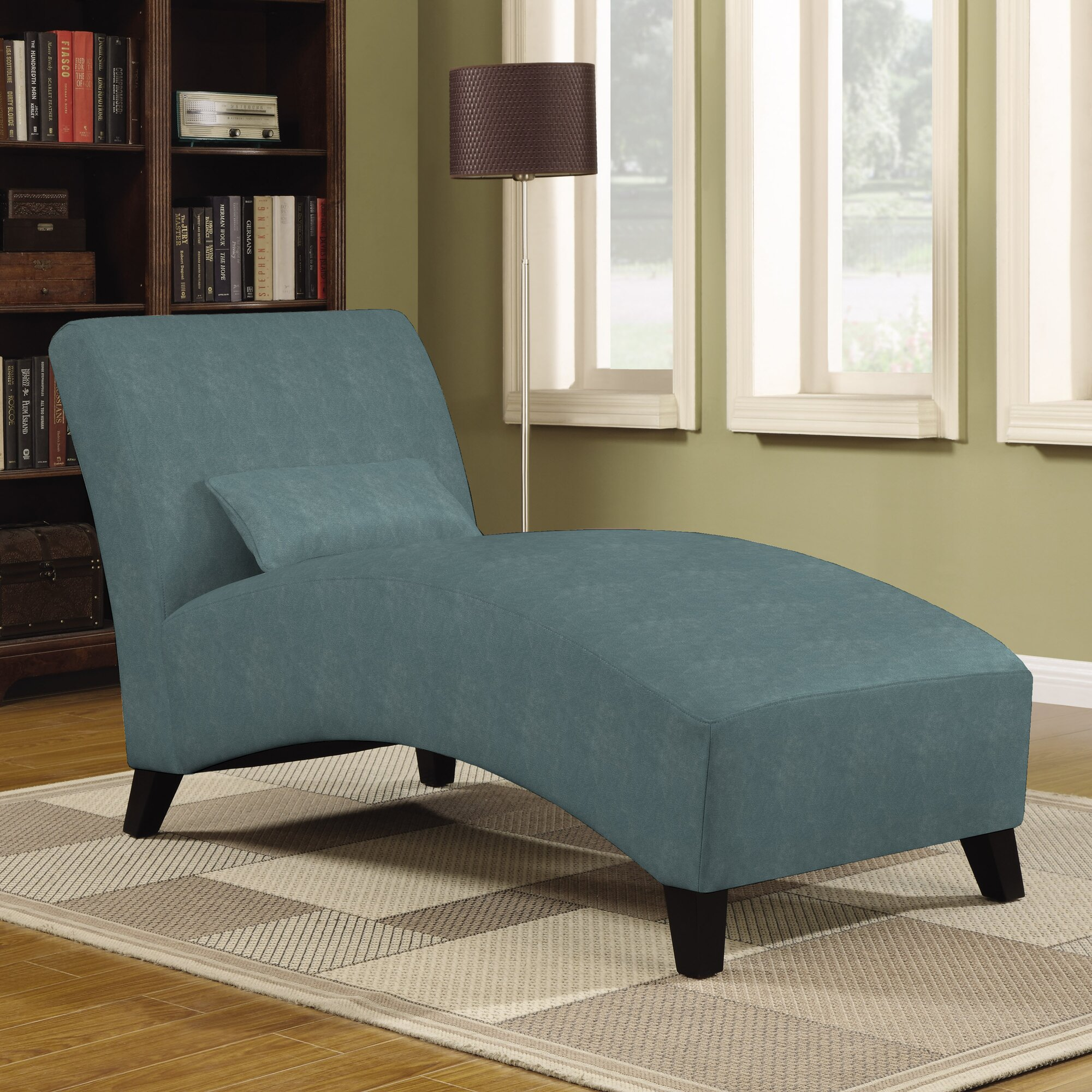 jules polyester chaise lounge - Living Room Chaise Lounge Chairs