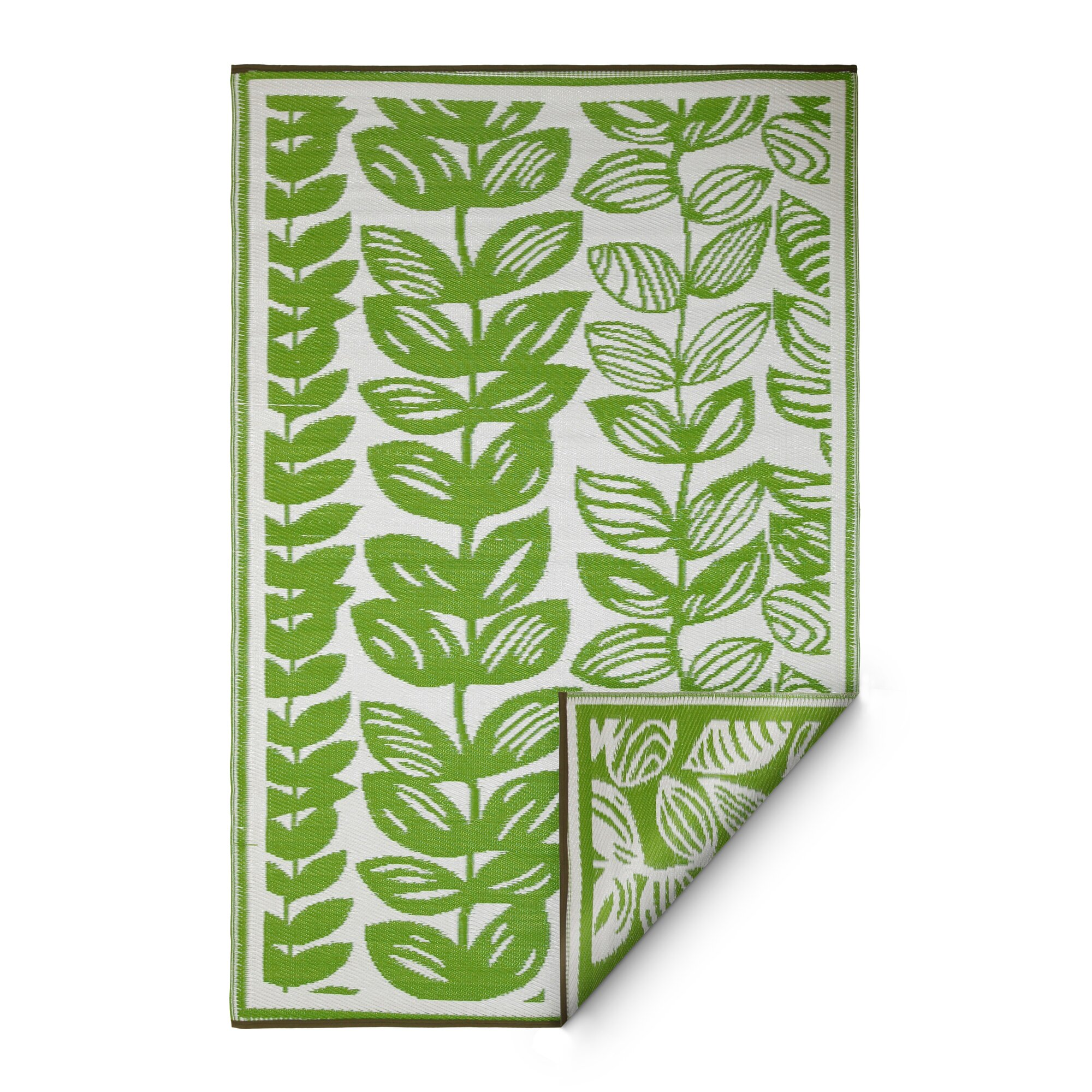 Dixon cream green indoor outdoor area rug reviews for Indoor outdoor carpet green