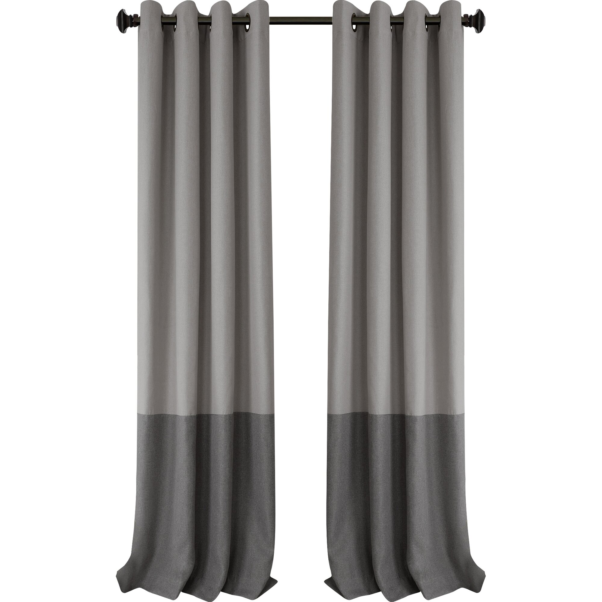 Modern grommet top curtains - Arrowsmith Striped Blackout Thermal Grommet Single Curtain Panel