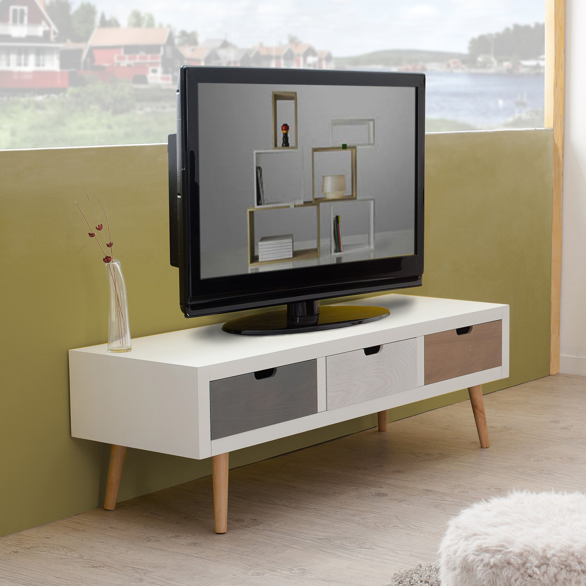 hokku designs tv lowboard f r fernseher bis zu 119 cm. Black Bedroom Furniture Sets. Home Design Ideas