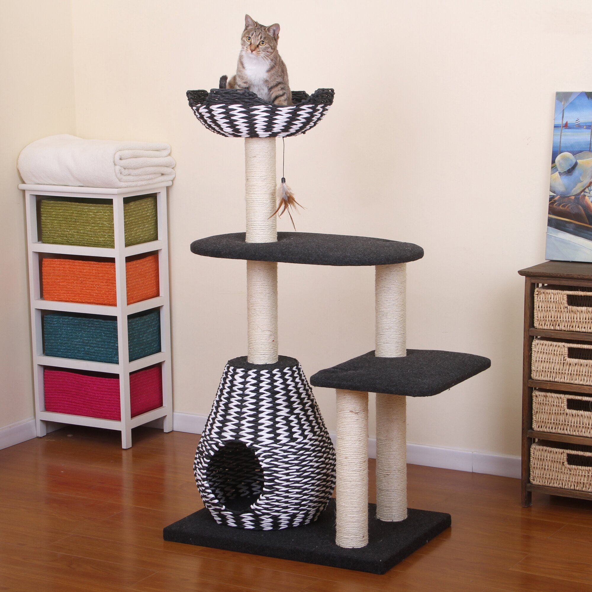 Petpals 49 Quot Contemporary Cat Tree Amp Reviews Wayfair