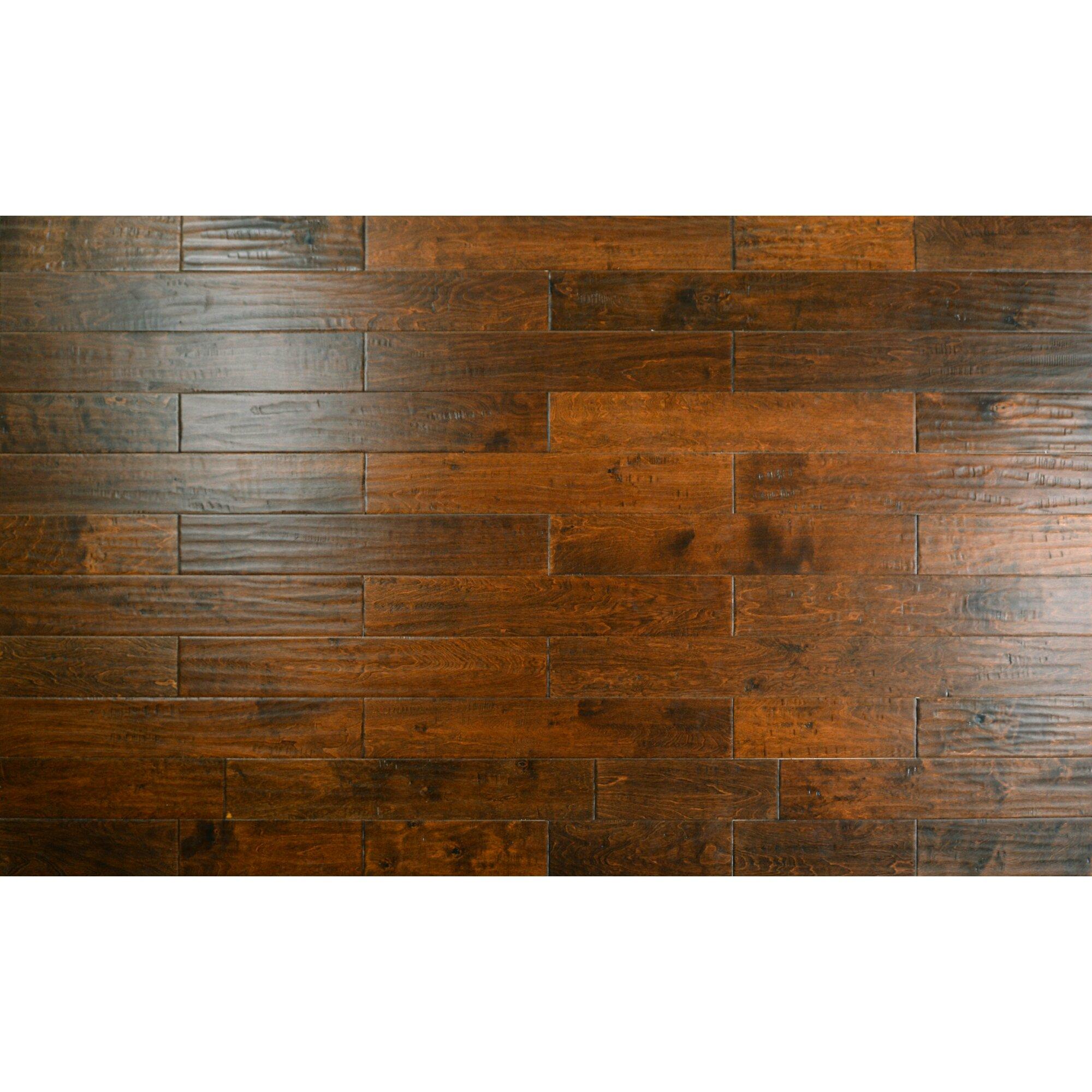 Birch Hardwood Flooring hand scraped chocolate birch 5 Pioneer 5 Engineered Birch Hardwood Flooring In Tomahawk