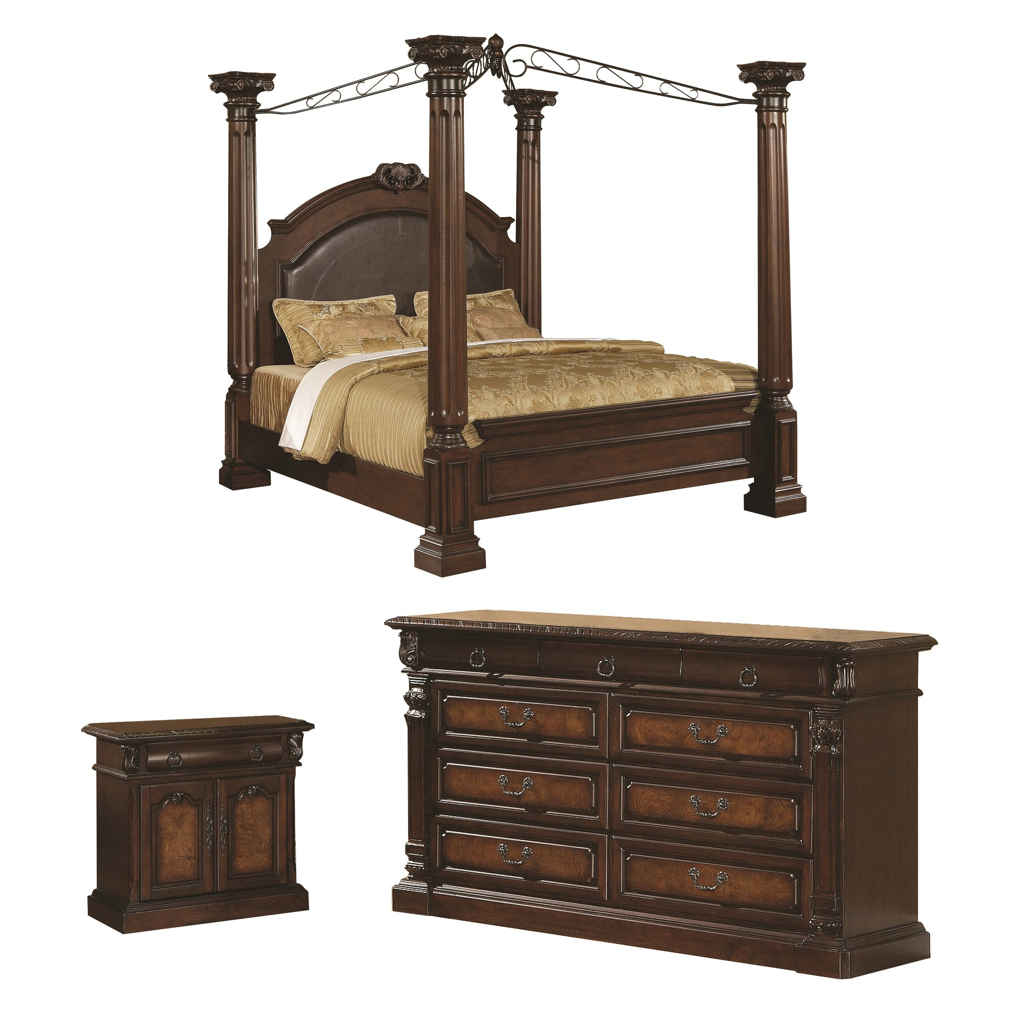 Wildon Home Payne Four Poster Customizable Bedroom Set Reviews