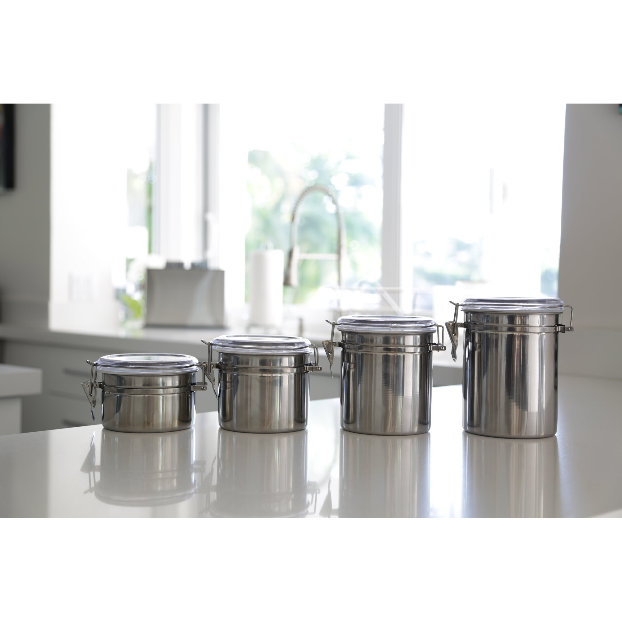 ragalta 4 piece kitchen canister set reviews wayfair