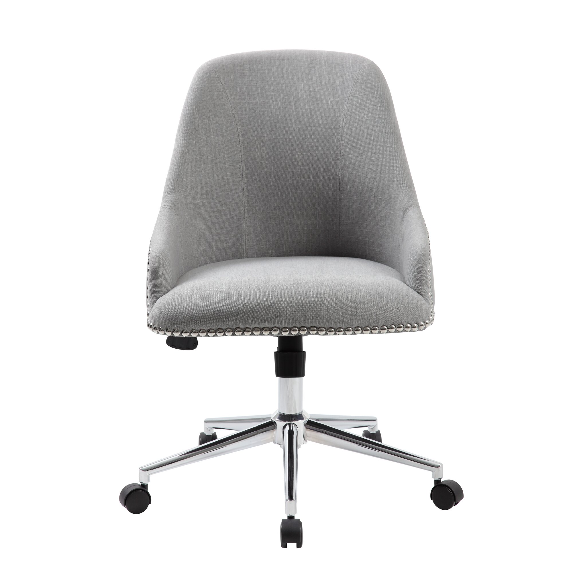 Modern leather office chair - Quick View Blue Carnegie Office Chair
