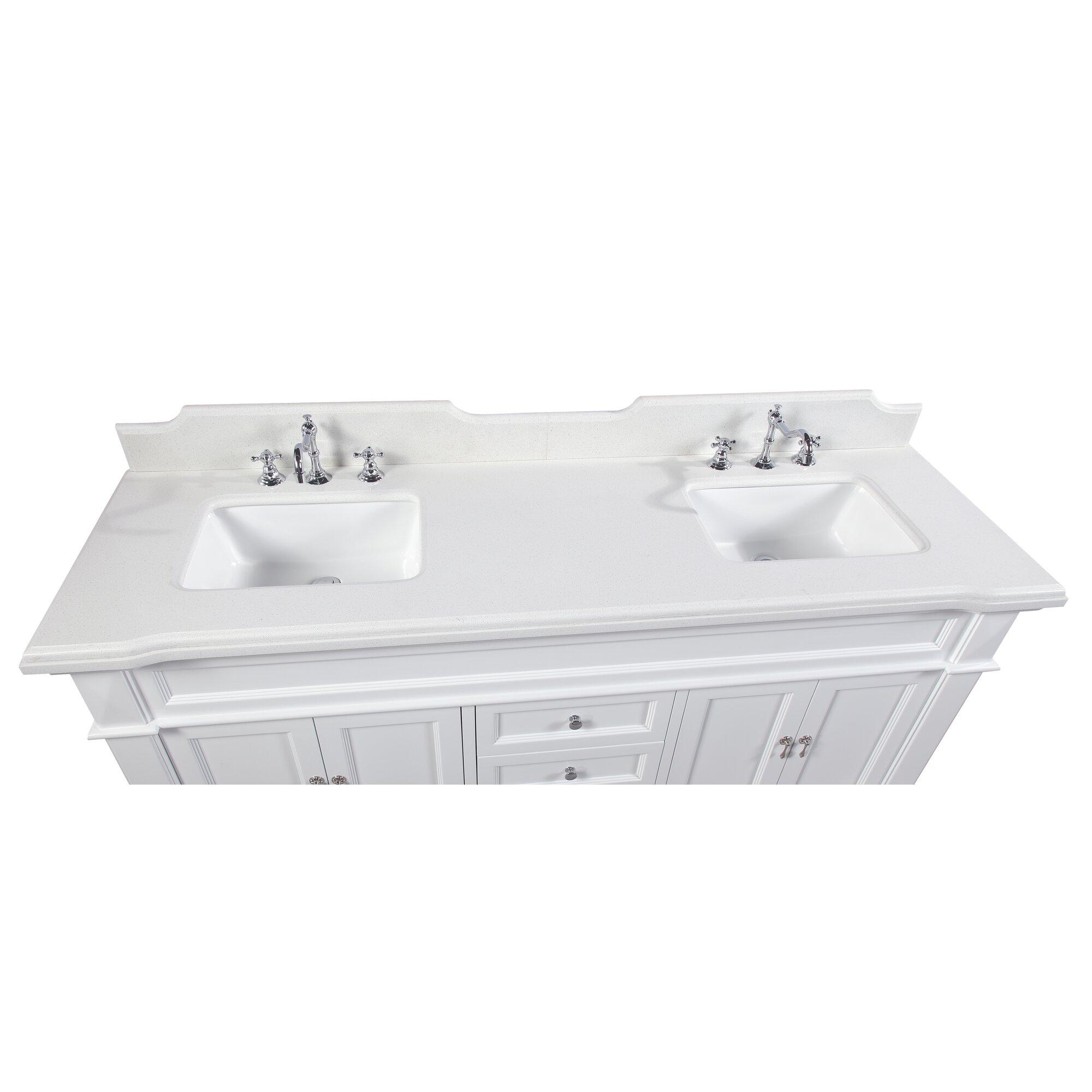 Elizabeth 72 Double Bathroom Vanity Set Reviews Joss Main