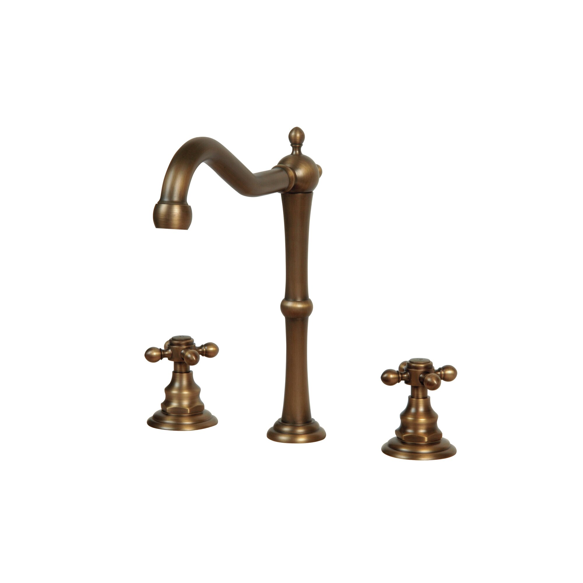 Antique brass bathroom faucets widespread - Antique Brass Bathroom Faucets Widespread Widespread Bathroom Faucet With Double Cross Handles