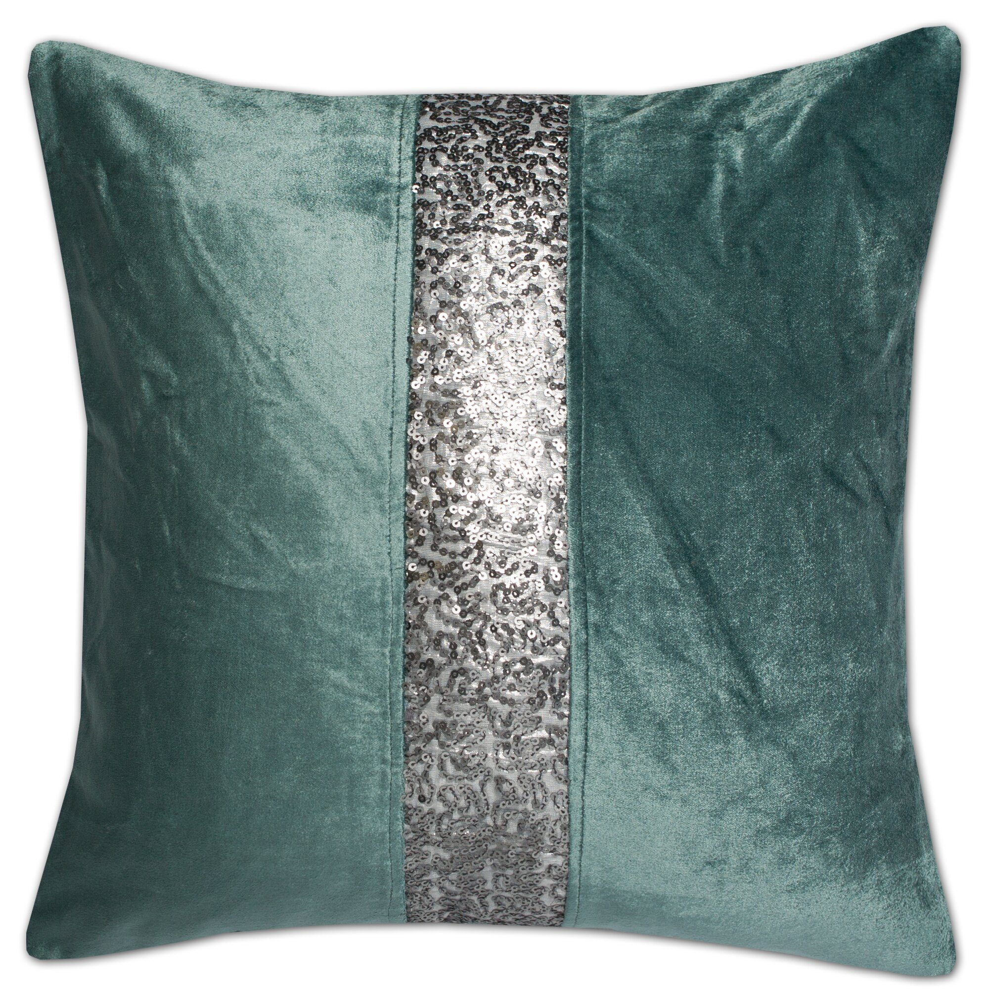 Luxury Decorative Pillow Collection : Sweet Home Collection Luxury Zippered Sequin Stripe Pillow Cover & Reviews Wayfair.ca