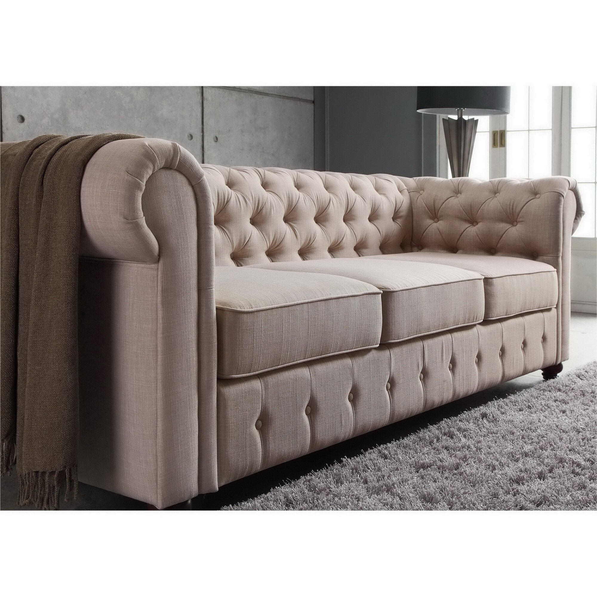 mulhouse furniture garcia chesterfield sofa reviews wayfair