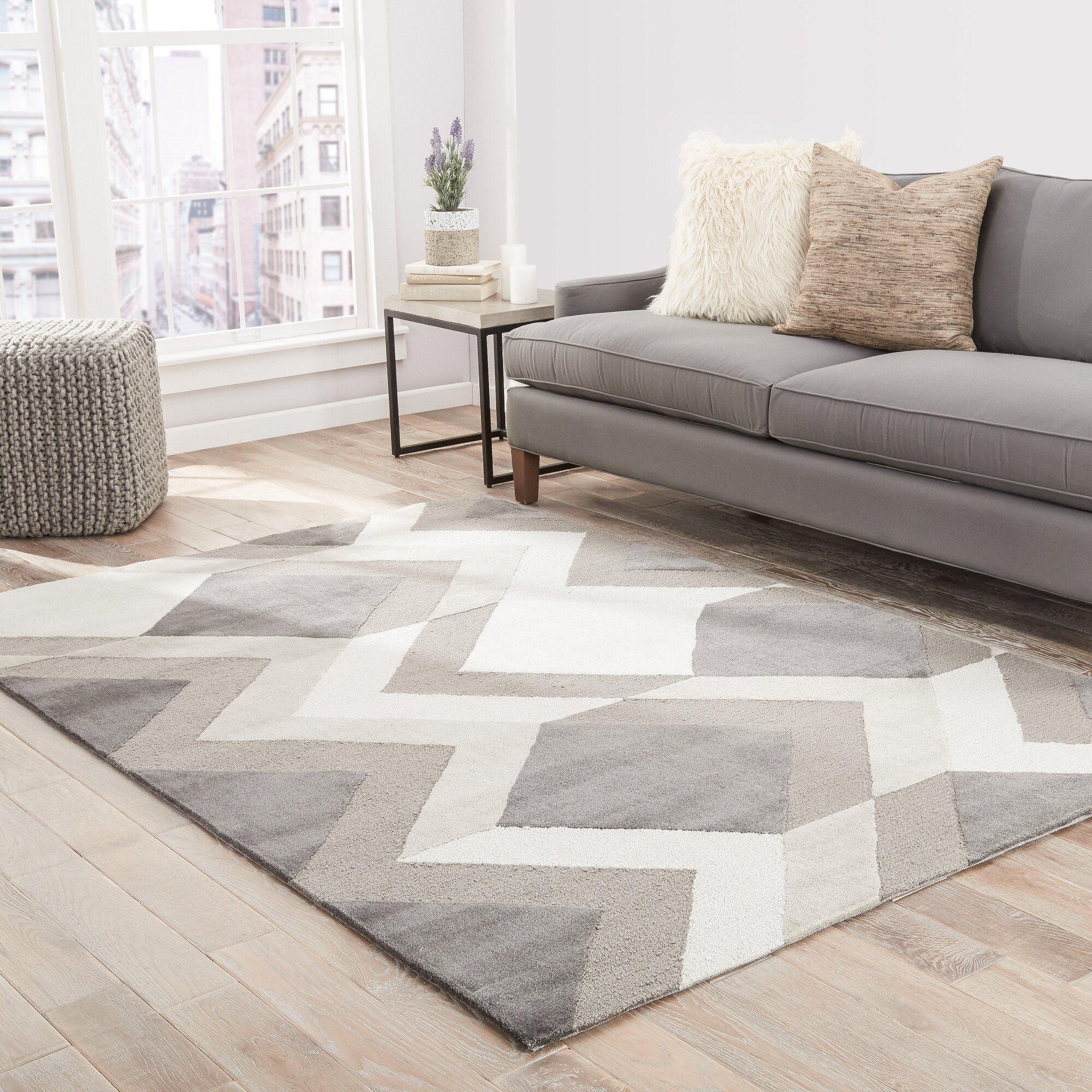 Shayla Hand Tufted Greige Cream Tan Area Rug Amp Reviews